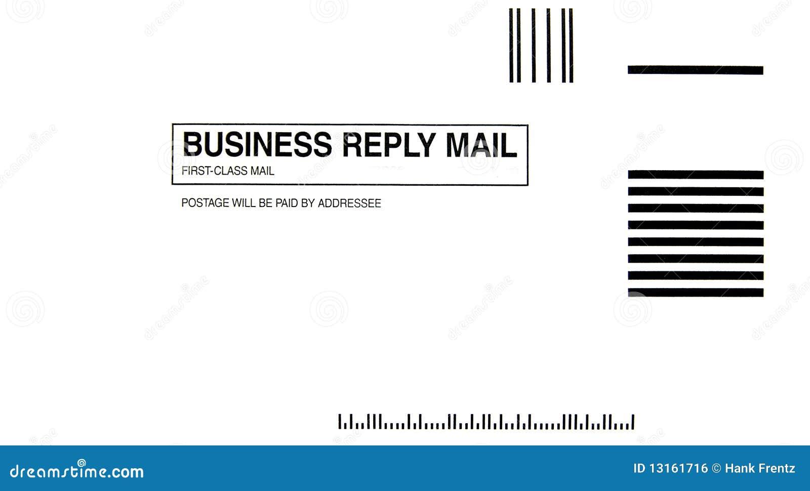 Business Reply Envelope stock illustration. Illustration of ...