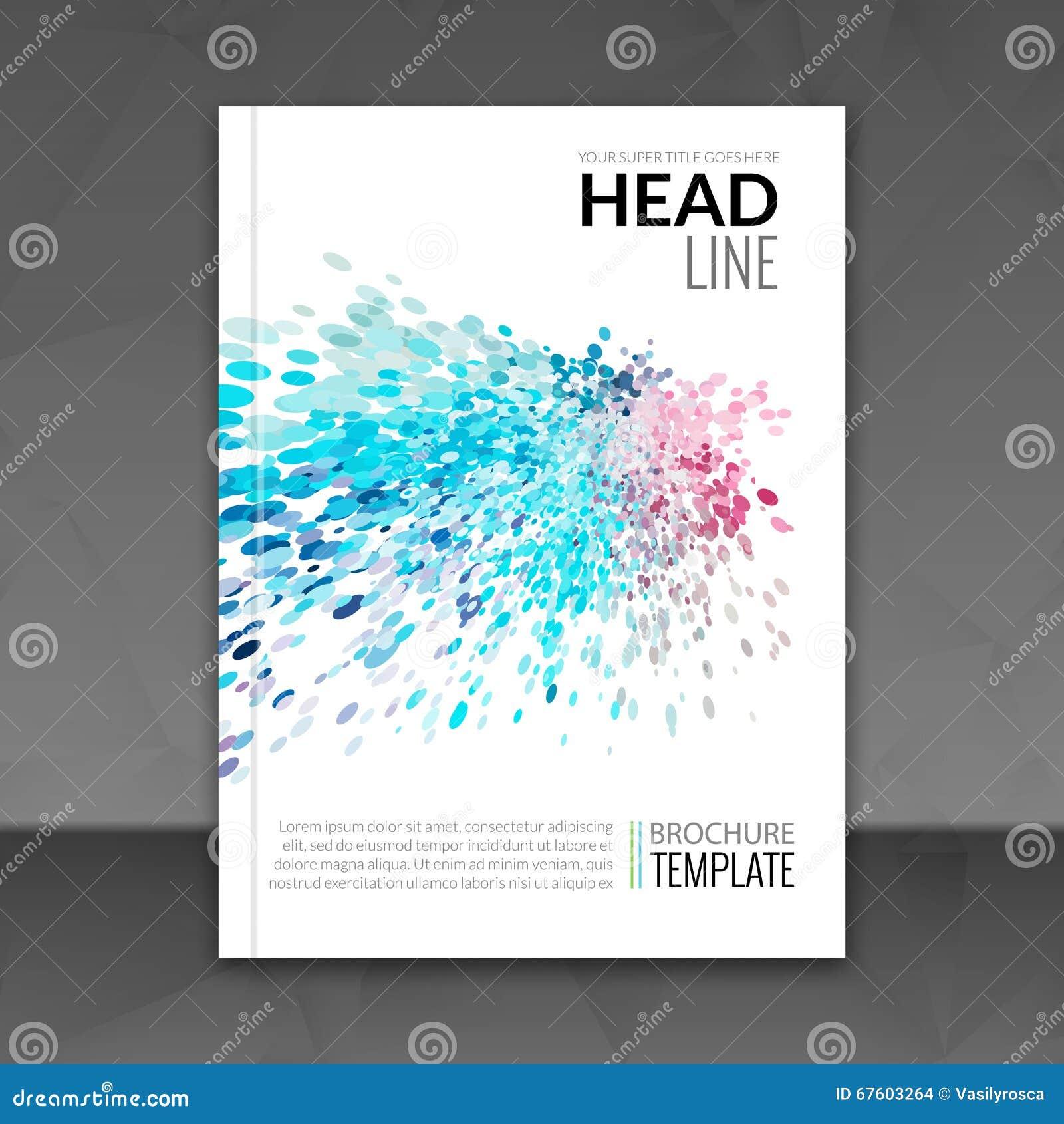 business report design flyer template background colorful business report design flyer template background colorful dots brochure cover template mockup