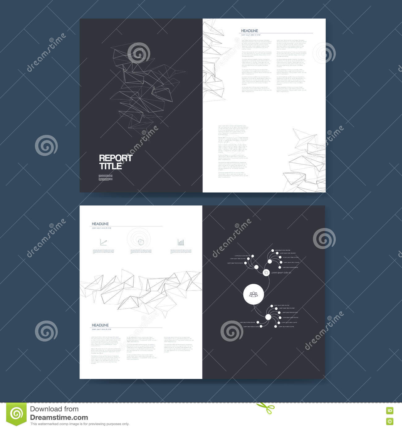 Business report template with infographics elements for company royalty free vector download business report template wajeb Choice Image