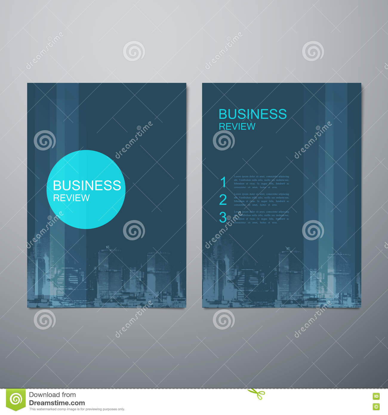 Book Cover Design Review : Business review brochure stock vector image of marketing