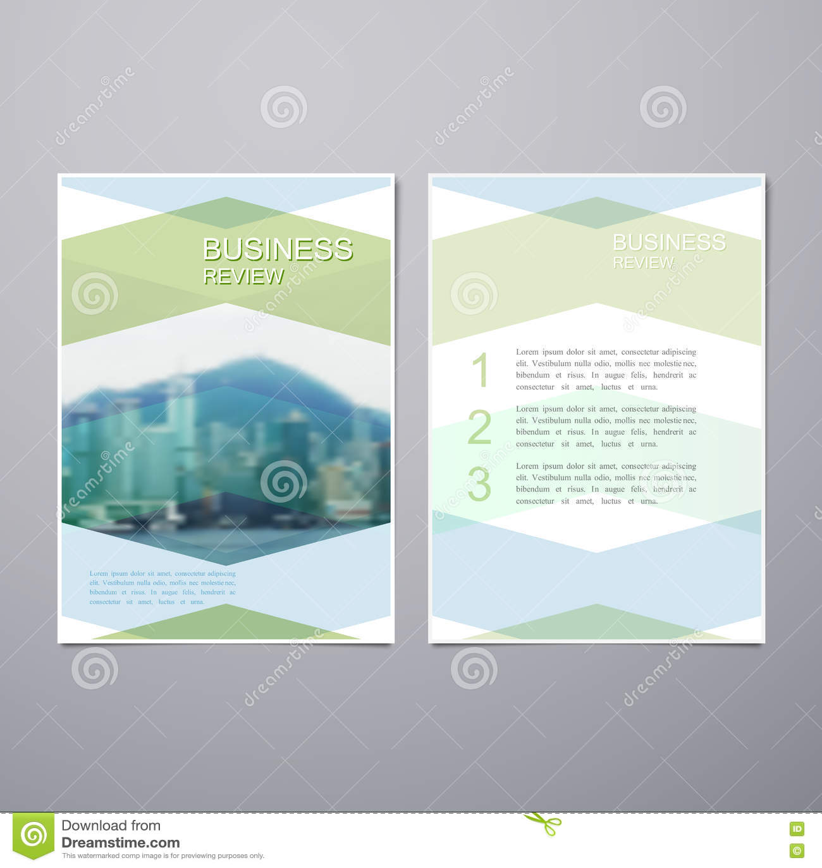 book brochure template - business review brochure cartoon vector cartoondealer
