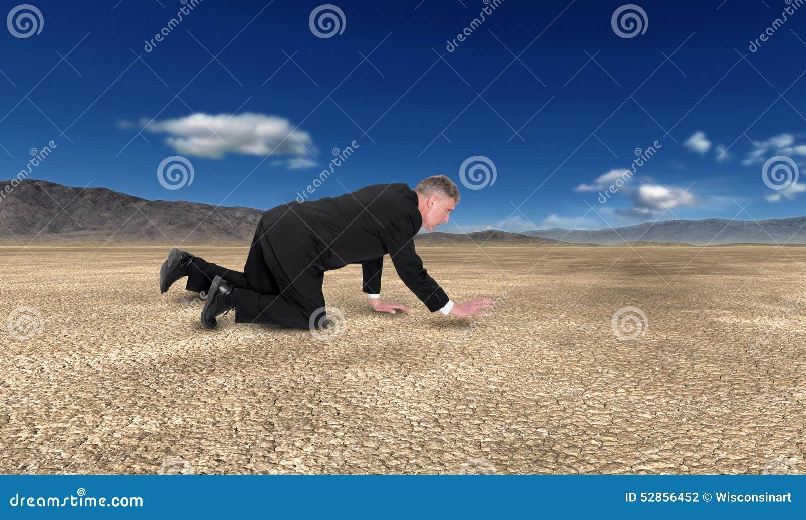 Business, Sales, Marketing, Desert, Man Crawling