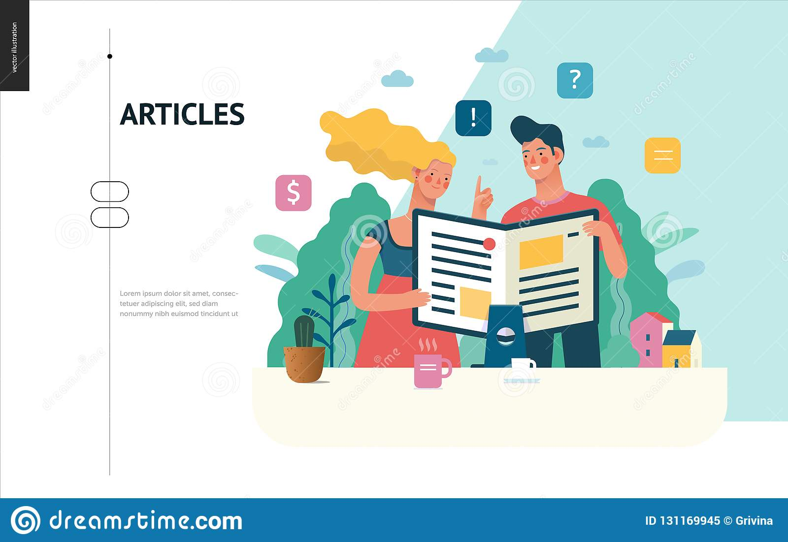 Business series - articles, web template