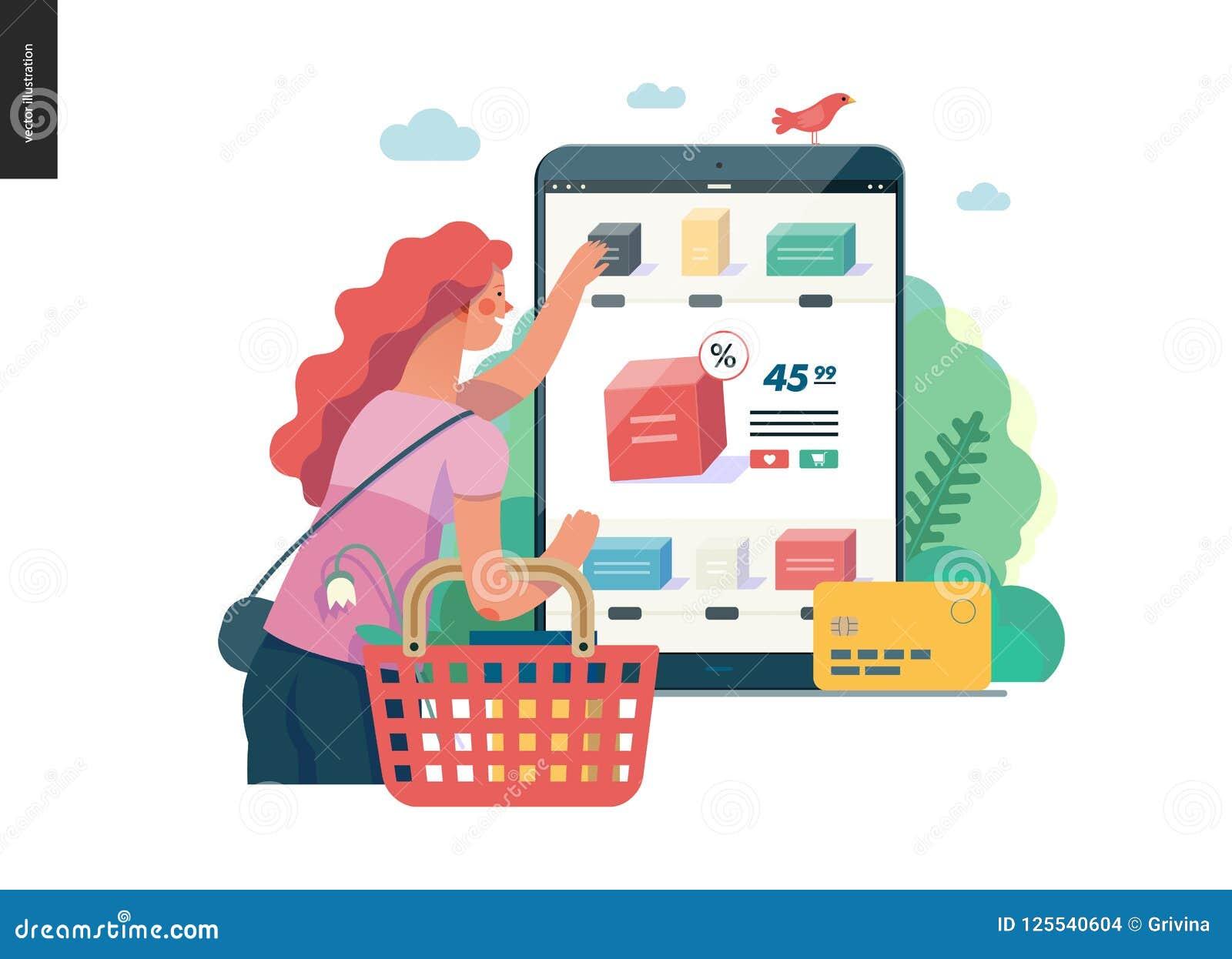 Business Series Buy Online Shop Web Template Stock Vector