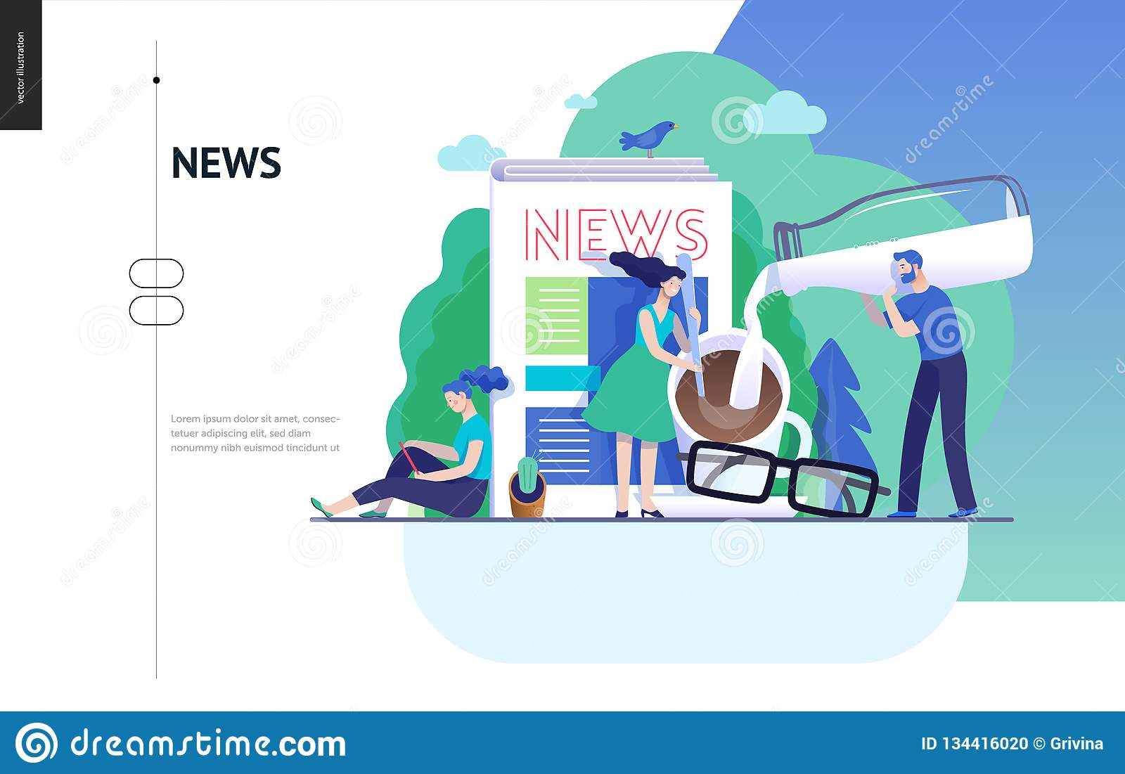 Business series - news or articles, web template