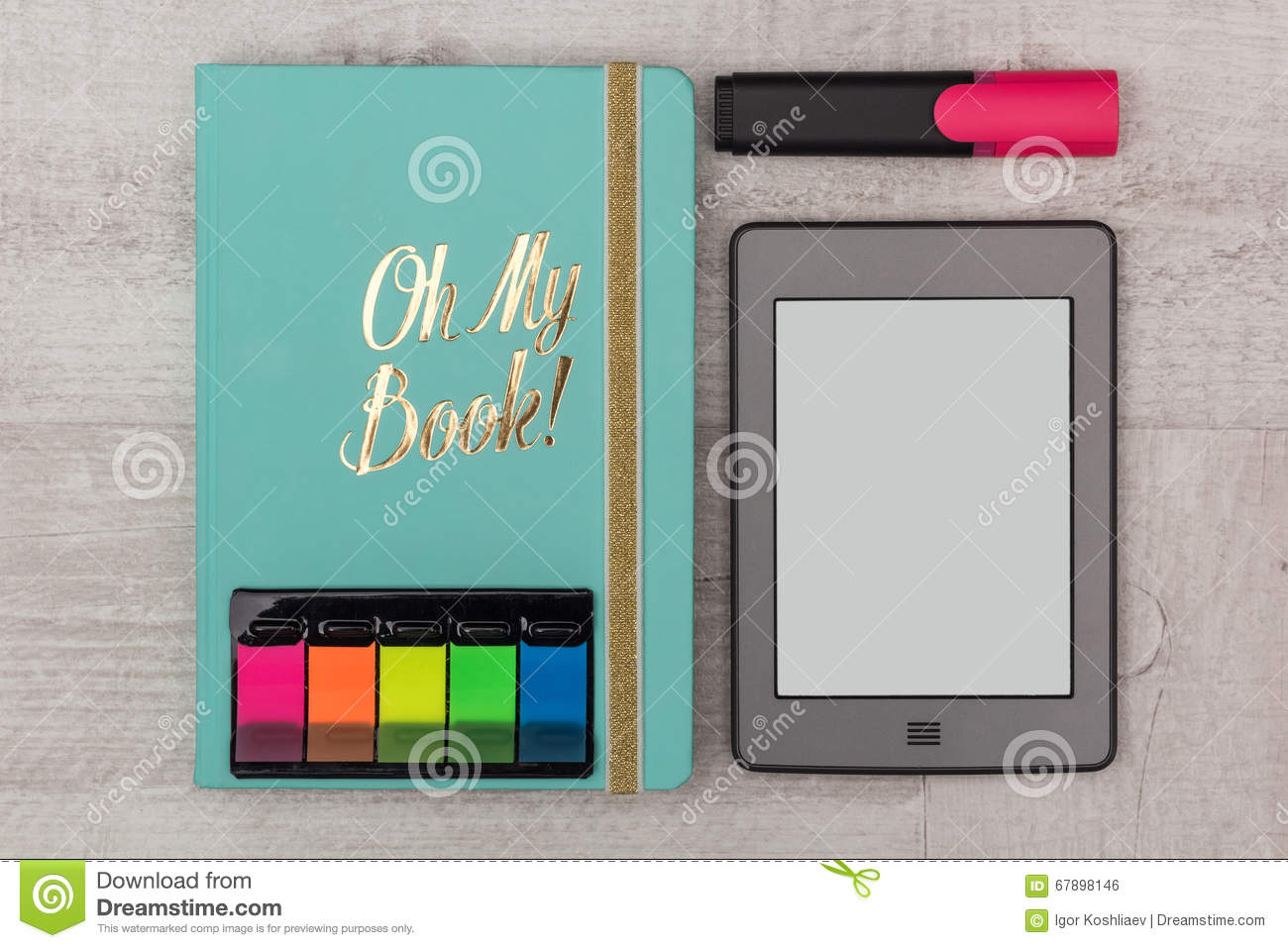 Business set: diary, e-book and marker