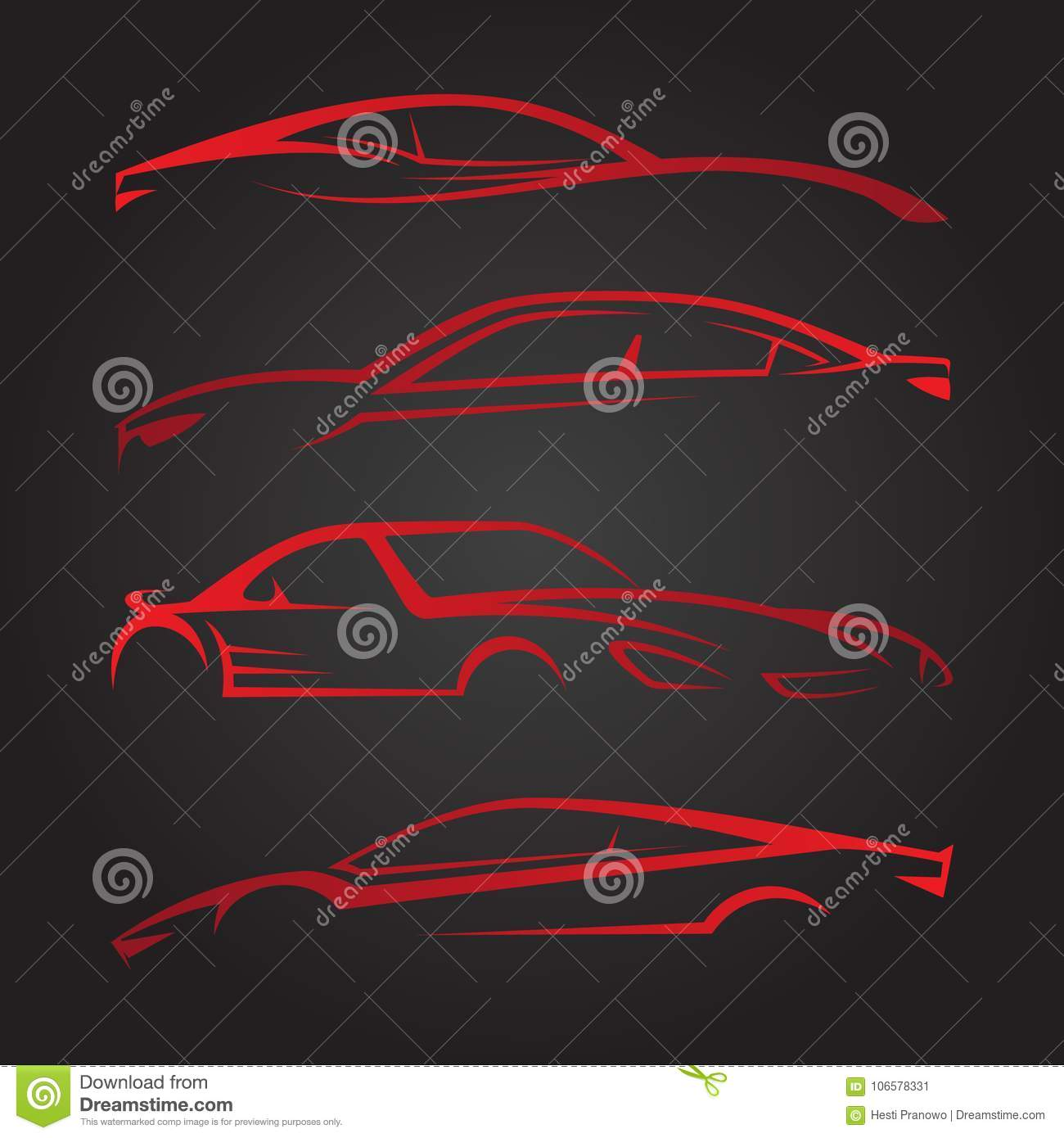 Business Set Of Modern Car Emblems Stock Vector Illustration Of