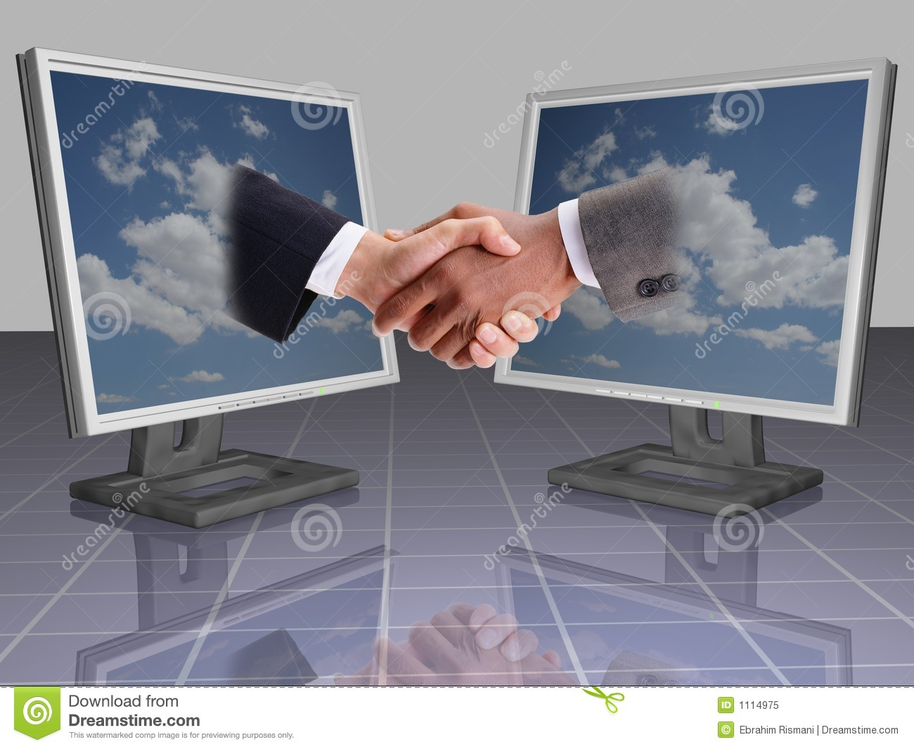 business shake hands stock image  image of office