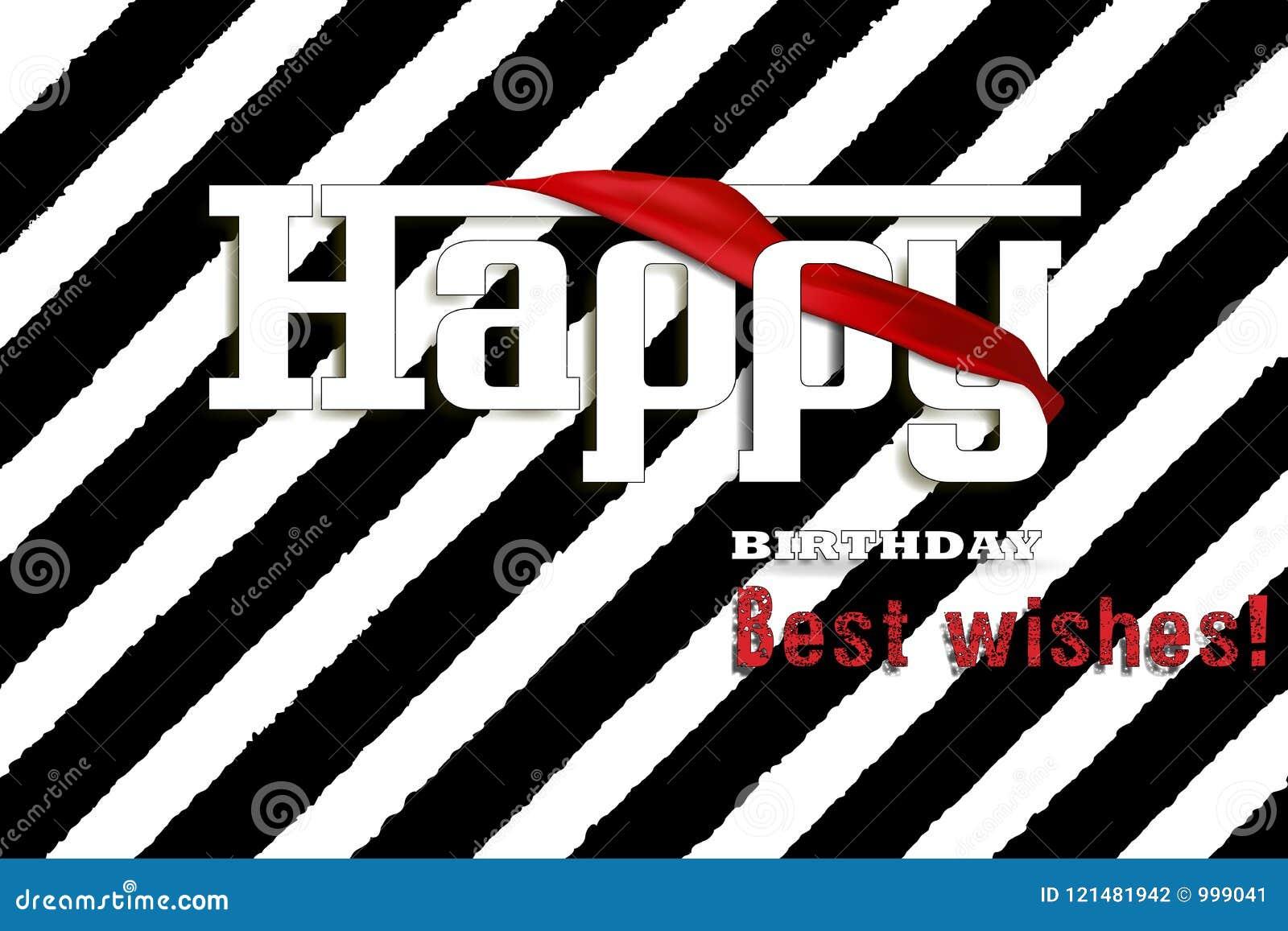 Happy Birthday Letters Card Illustration Stock Vector Illustration