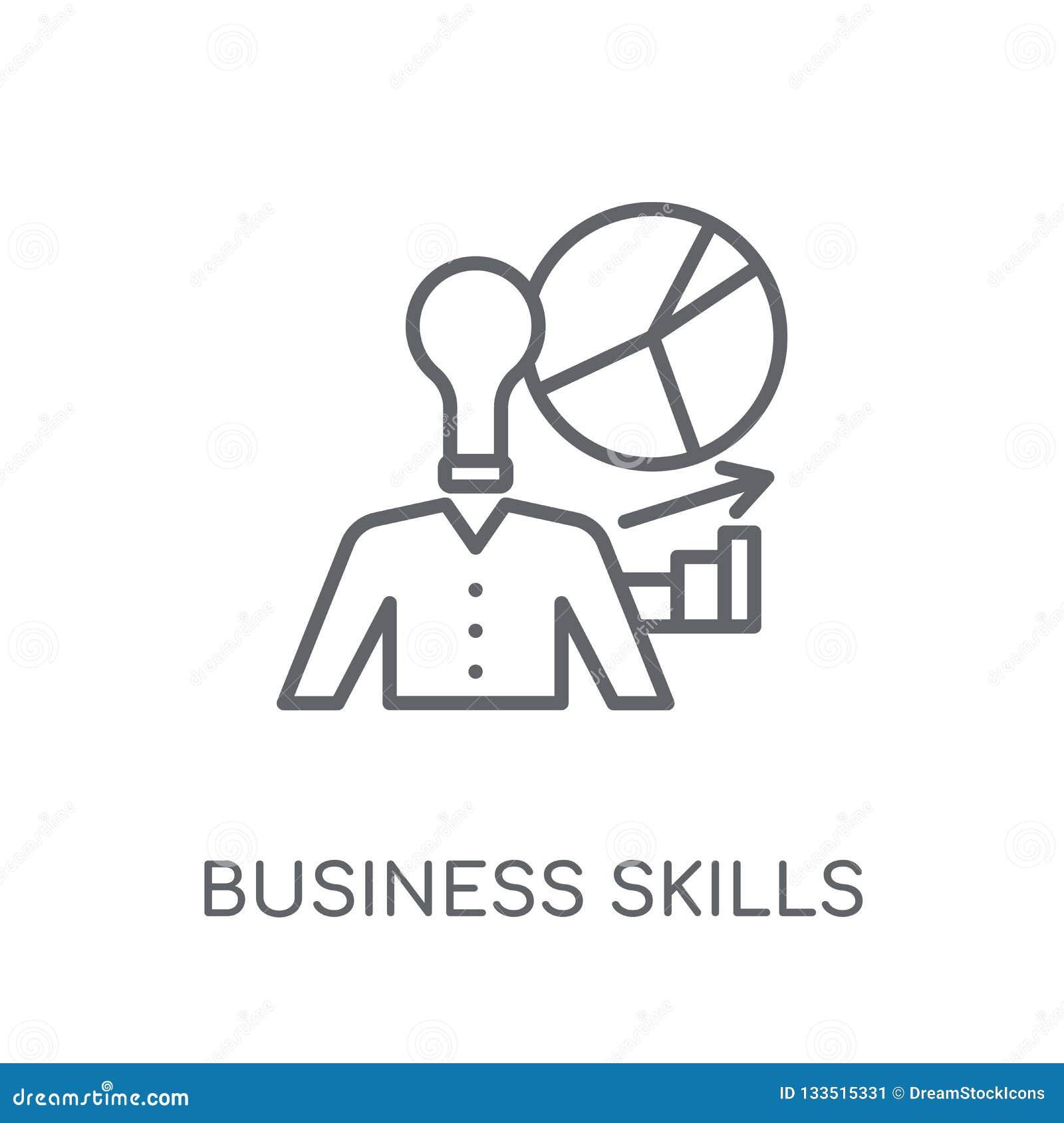 Business skills linear icon. Modern outline Business skills logo