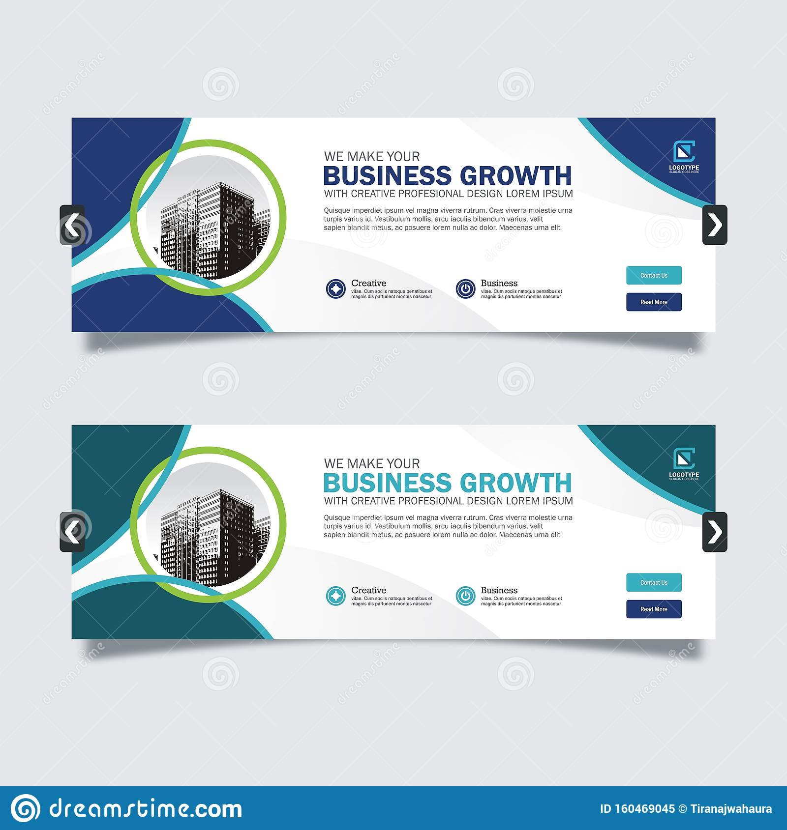 Business Slider Banner Design With Trendy And Modern Design Stock Vector -  Illustration Of Homepage, Abstract: 160469045