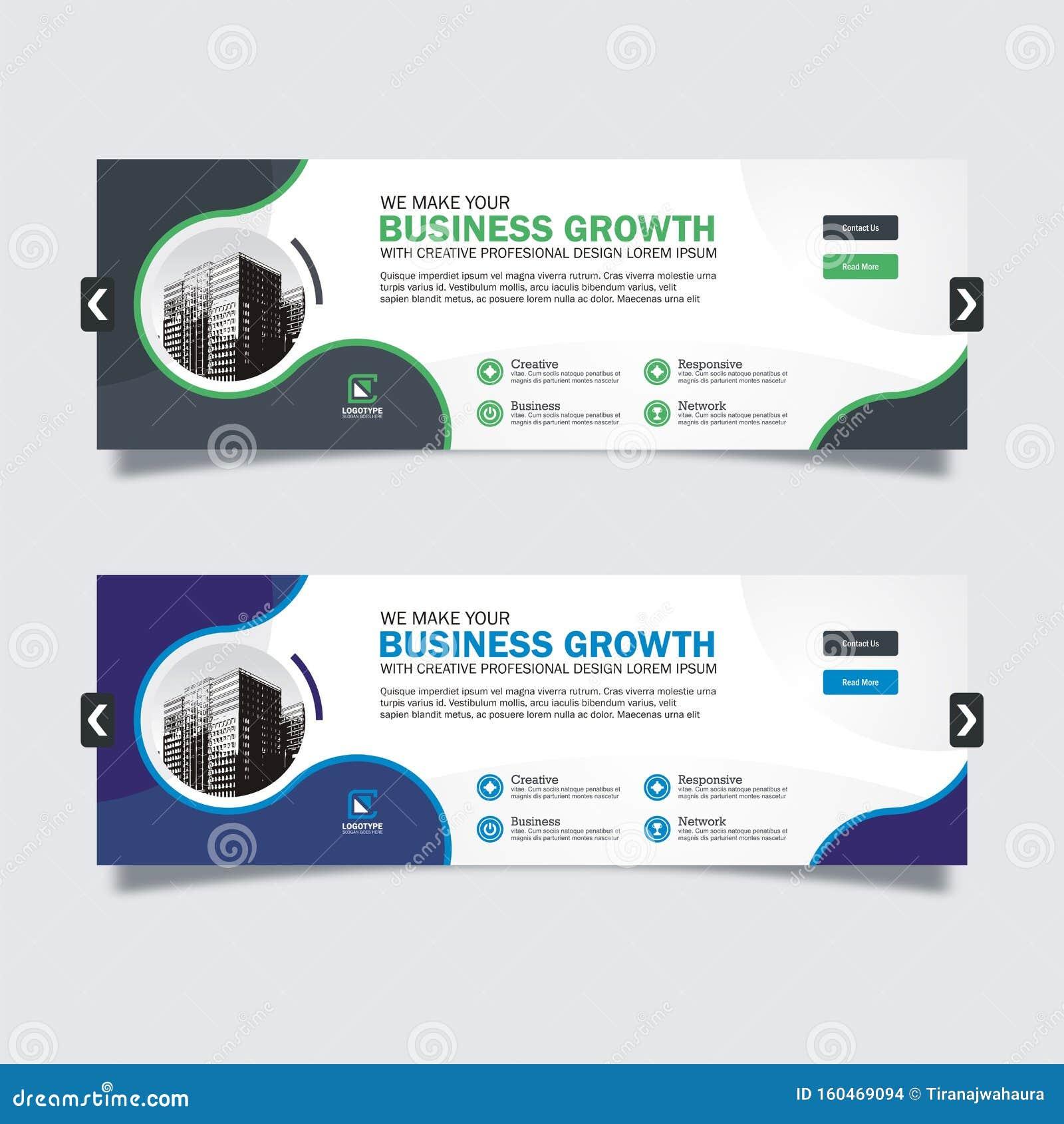 Business Slider Banner Design With Trendy And Modern Design Stock Vector -  Illustration Of 2020, Marketing: 160469094