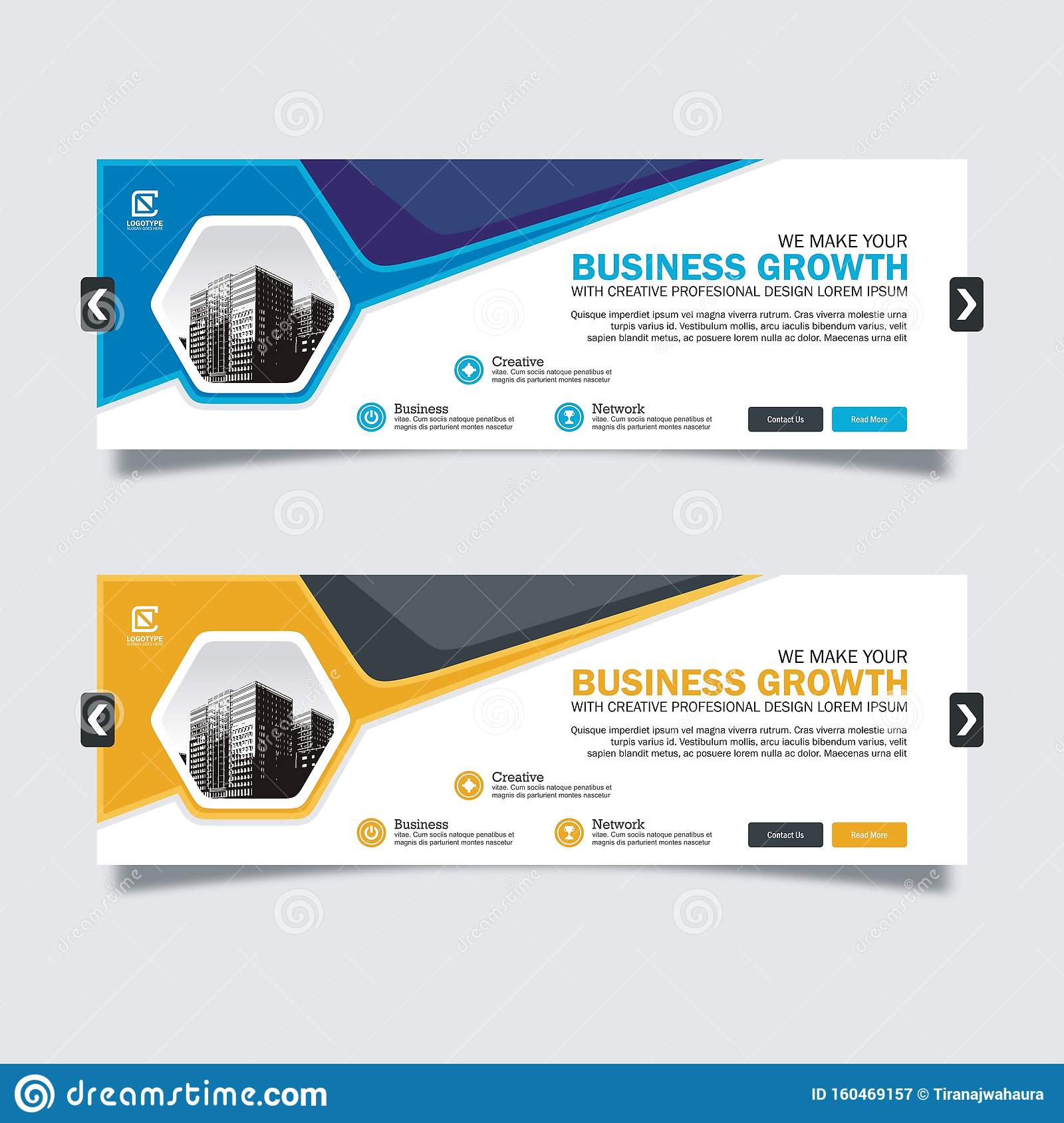 Business Slider Banner Design With Trendy And Modern Design Stock Vector -  Illustration Of Education, Interface: 160469157