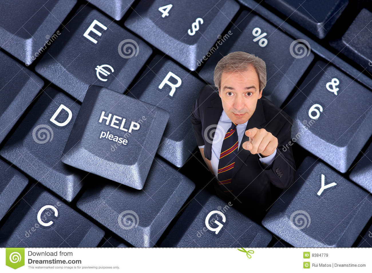 businessman inside a laptop keyboard hole with a business solution ...: https://www.dreamstime.com/royalty-free-stock-images-business...