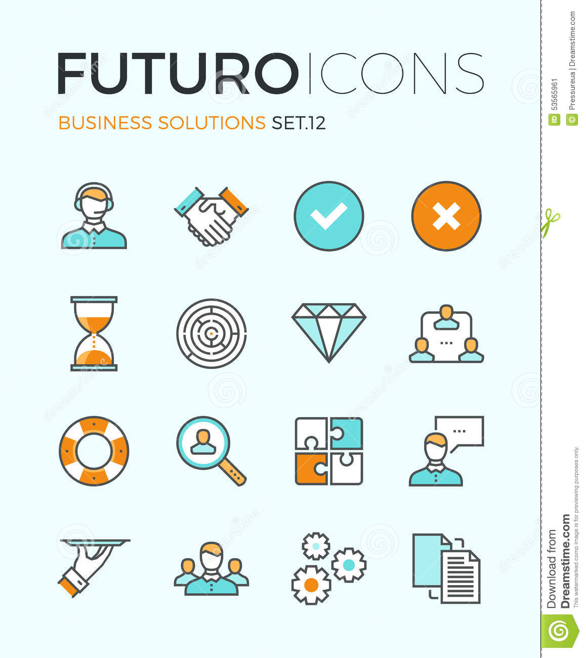 Line Design Solutions : Business solutions futuro line icons stock vector image