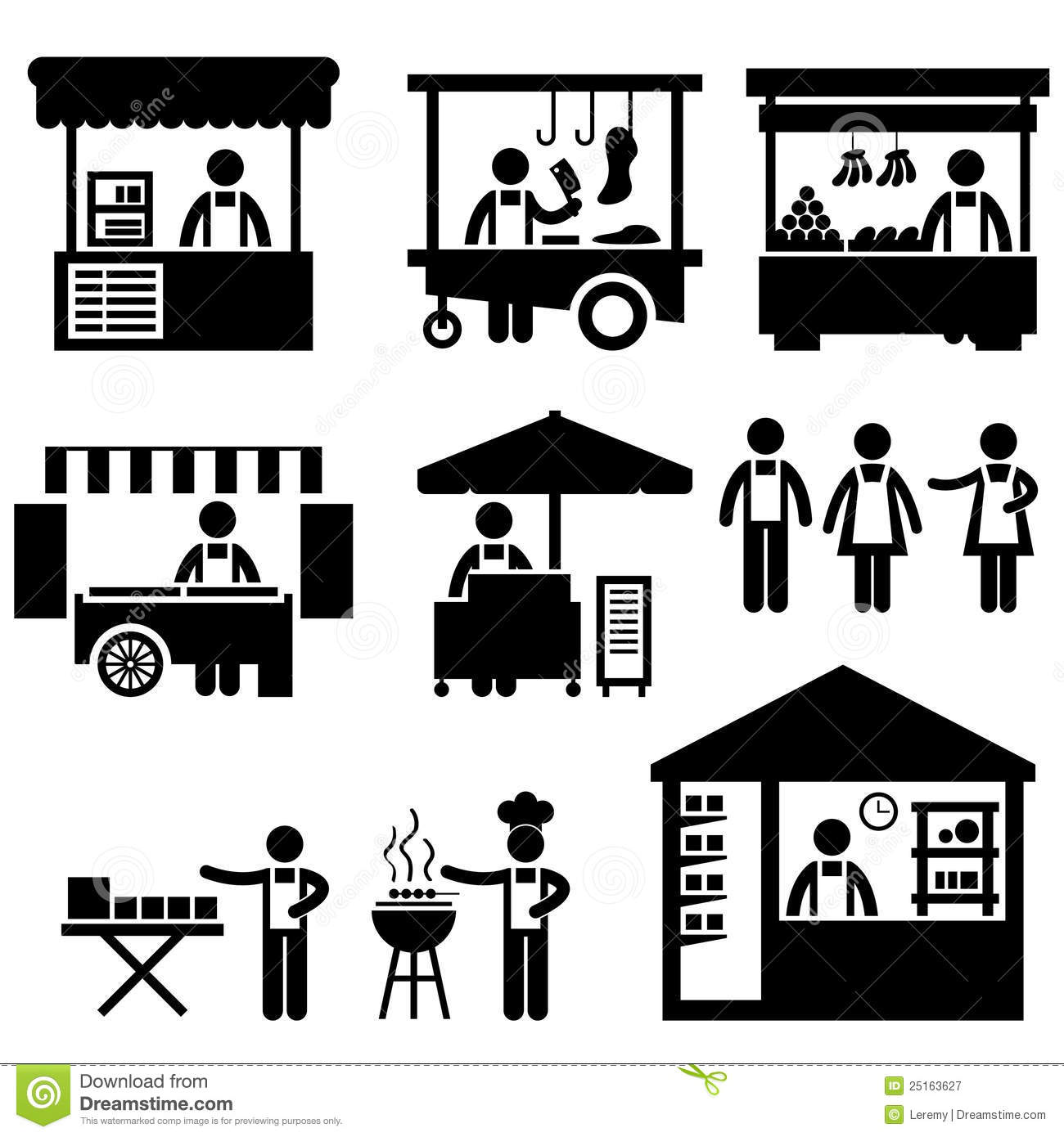 Exhibition Stall Vector : Business stall store booth market marketplace stock vector