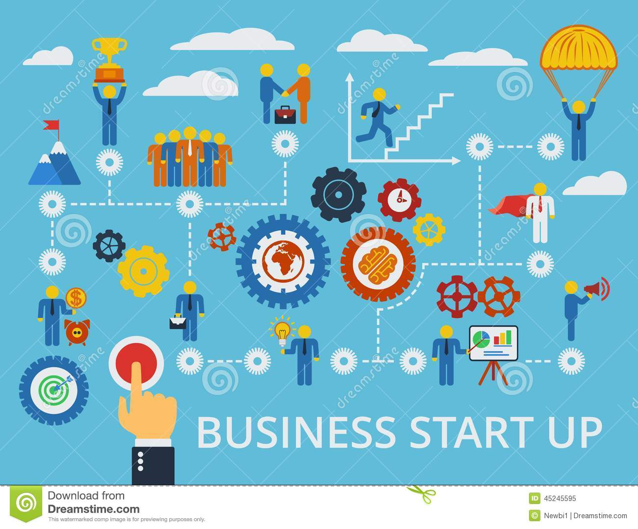 Business start up infographics template vector stock vector business start up infographics template vector cheaphphosting Gallery