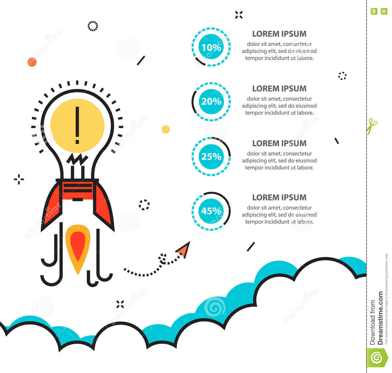 Business startup infographic with idea rocket template for cycle download business startup infographic with idea rocket template for cycle stock vector illustration of background cheaphphosting Gallery