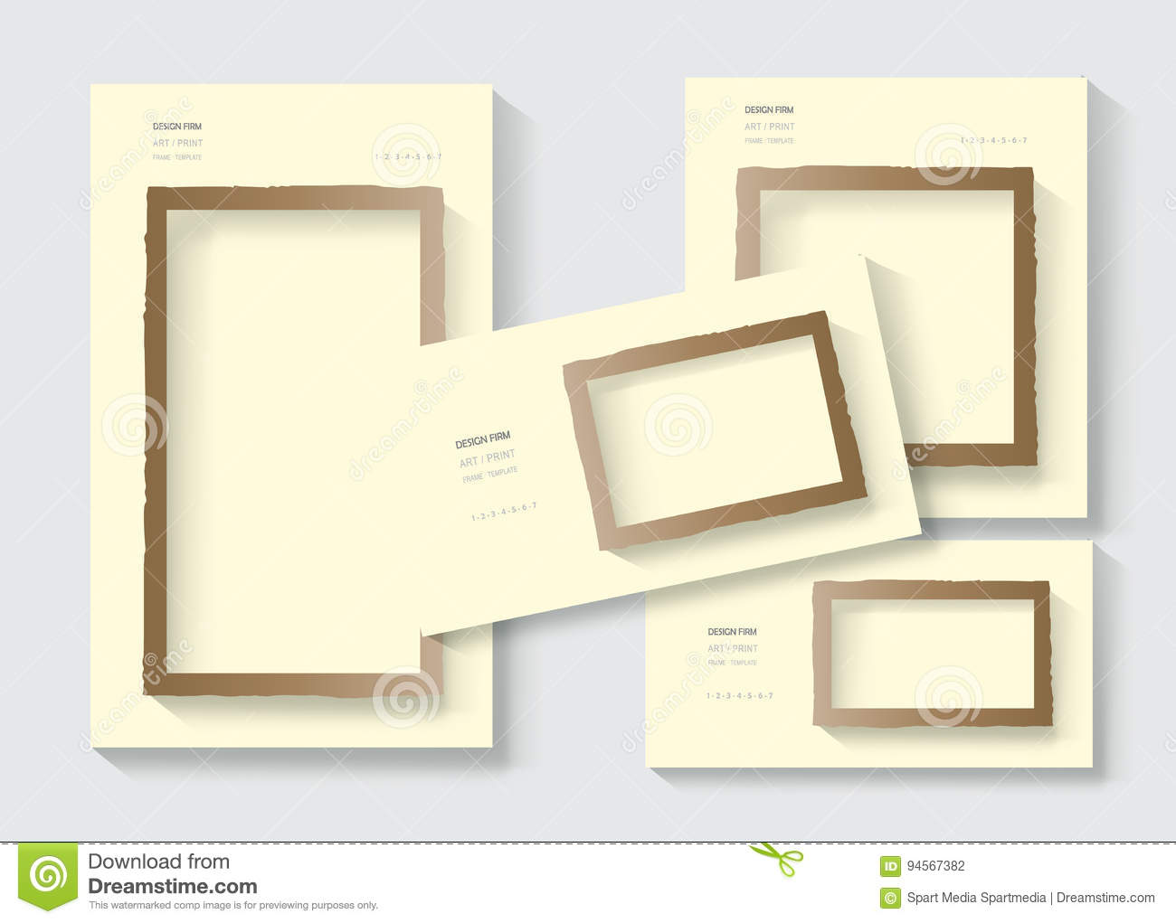 Business cards blank posters copy space stationery set stock vector download business cards blank posters copy space stationery set stock vector illustration of communication reheart Image collections