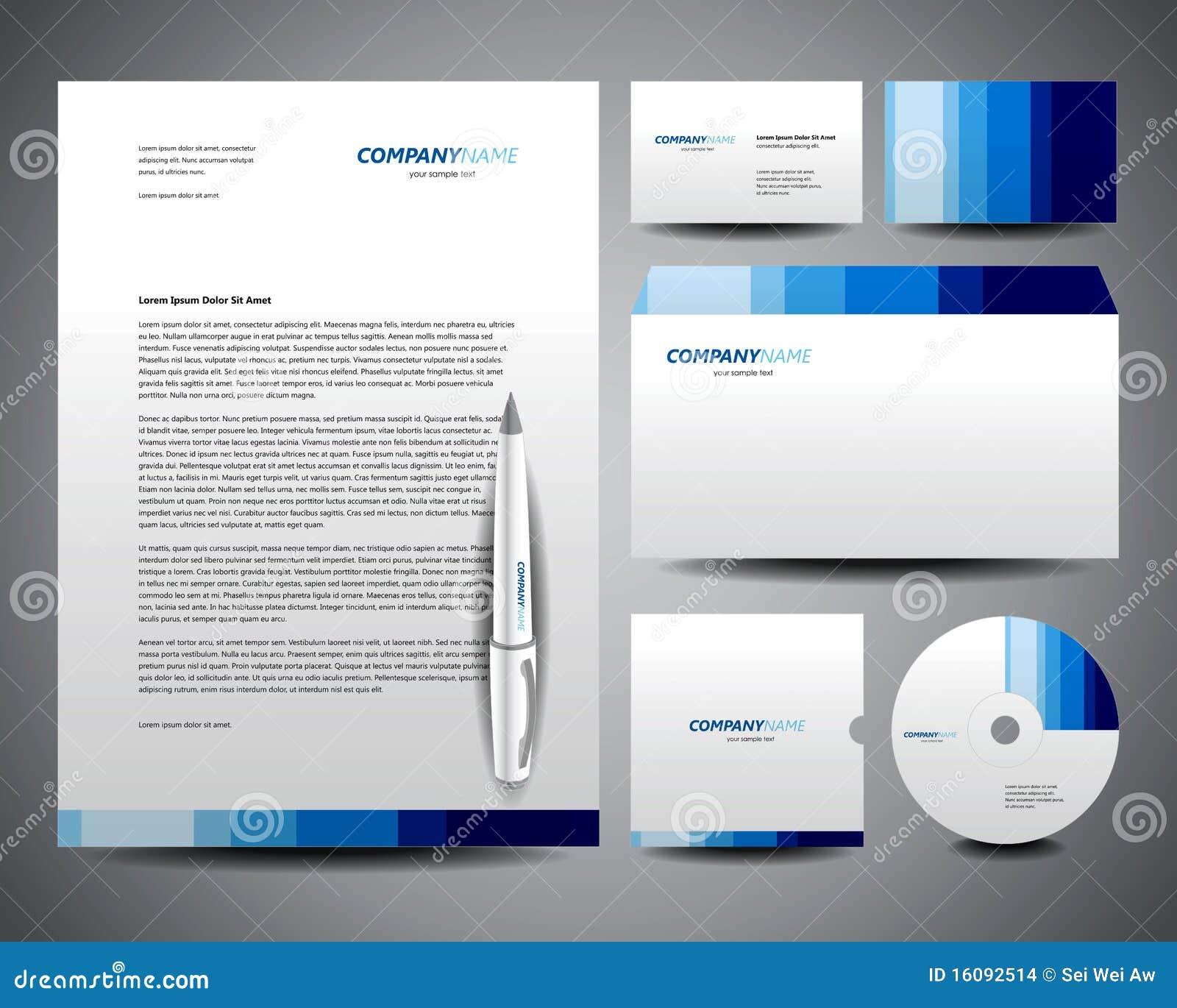 Sample business letterhead templates