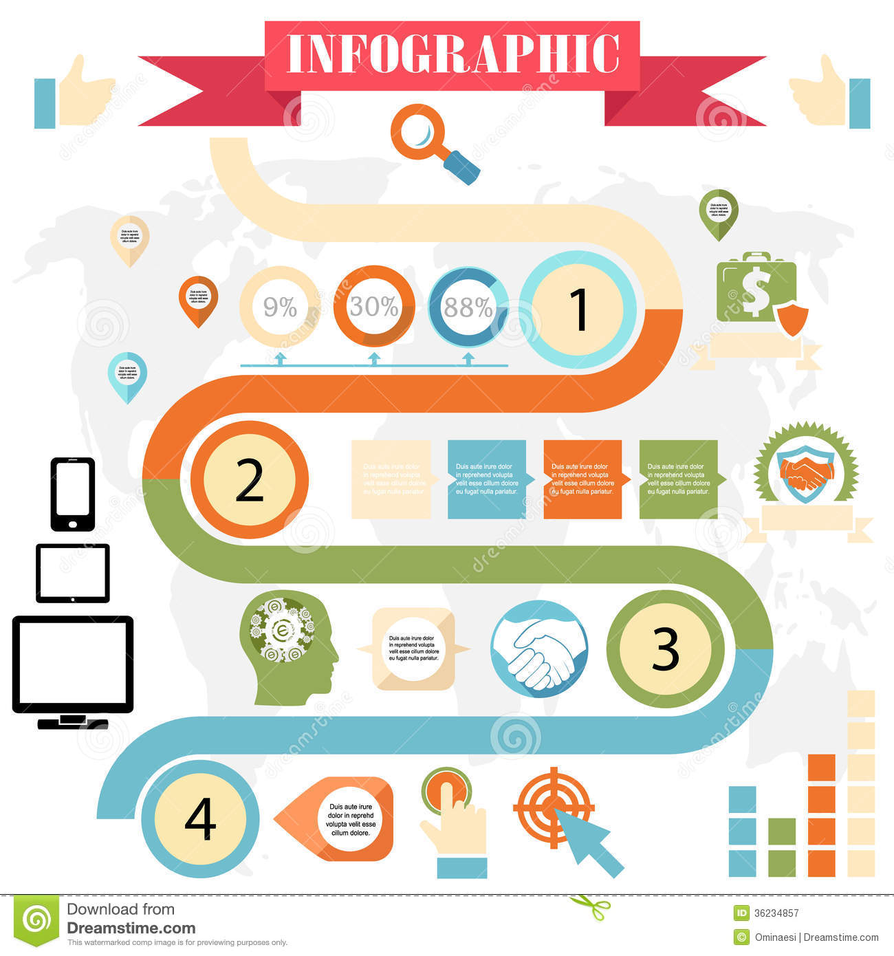 More similar stock images of ` Business steps development infographics ...