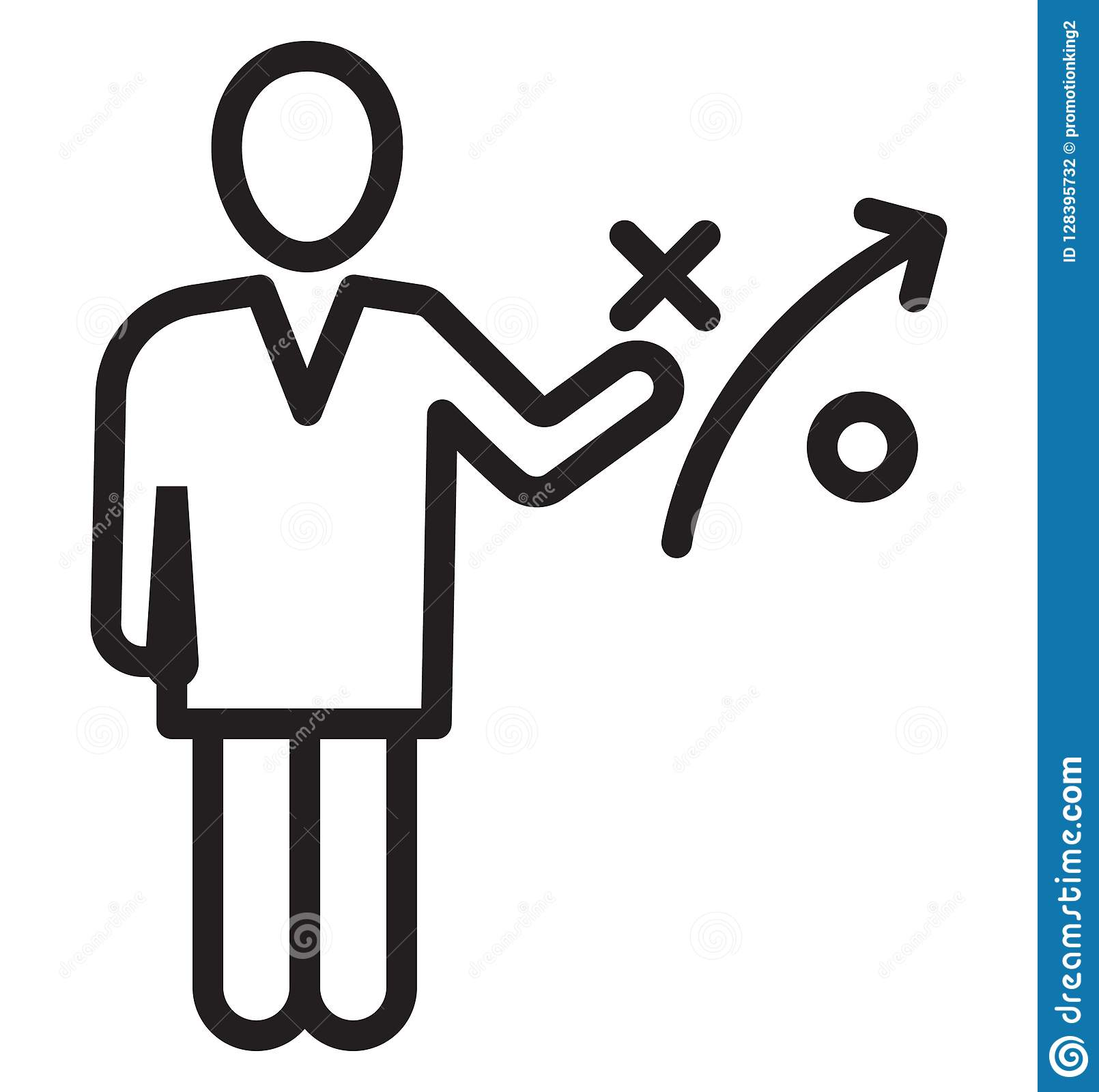 Business strategy, businessman Isolated Vector Icon can be easily edit and modify