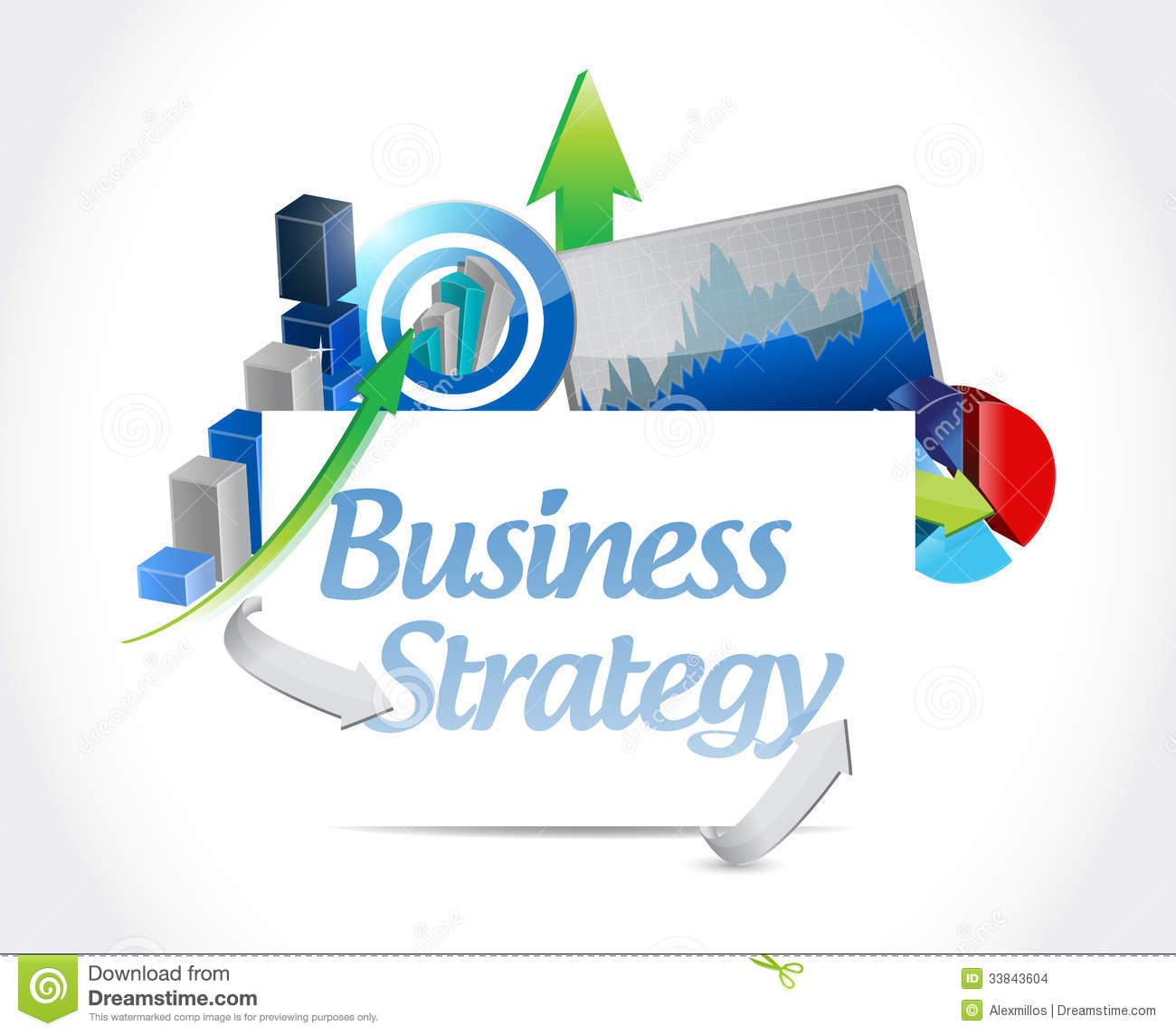 Business strategy concept sign illustration design stock images image 33843604 - Custom signs for home decor concept ...
