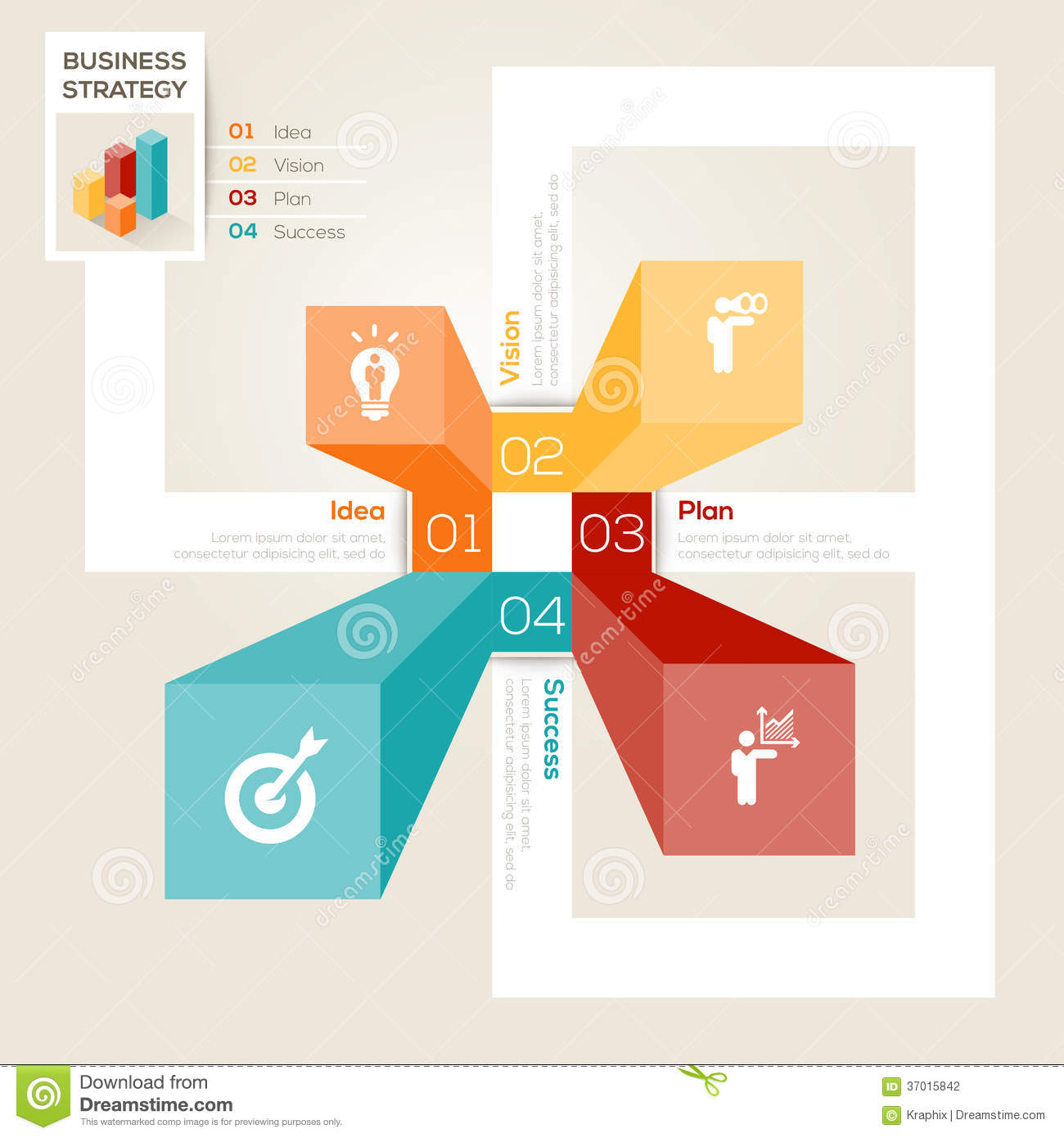 Business strategy design layout stock vector for Strategic design company