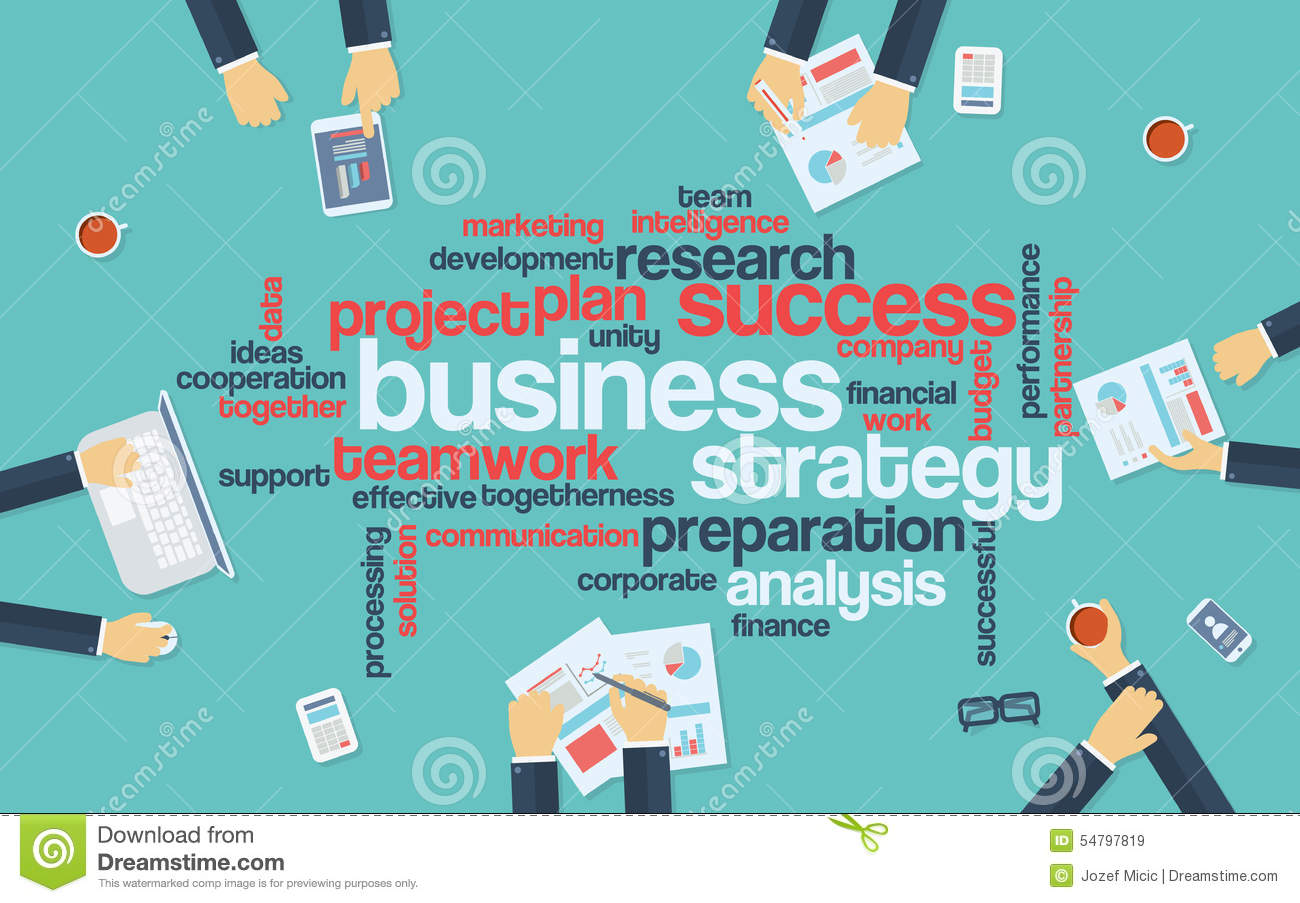 Poster design keywords - Business Strategy Infographics Poster With