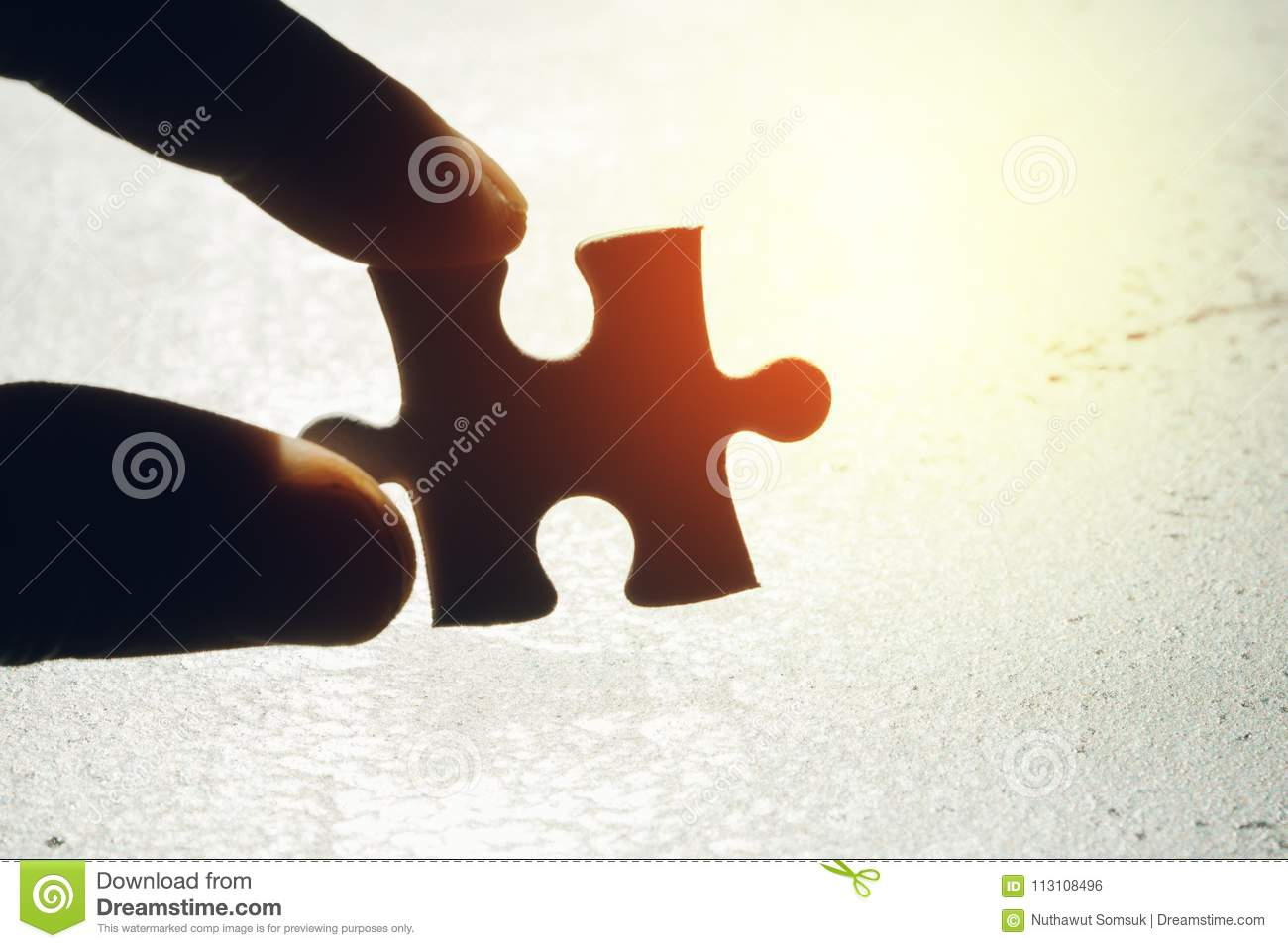 Business Strategy Missing Piece Solution For Success Concept H
