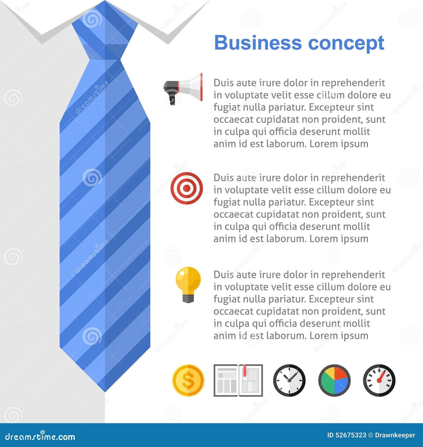 business strategy presentation slide stock vector illustration of