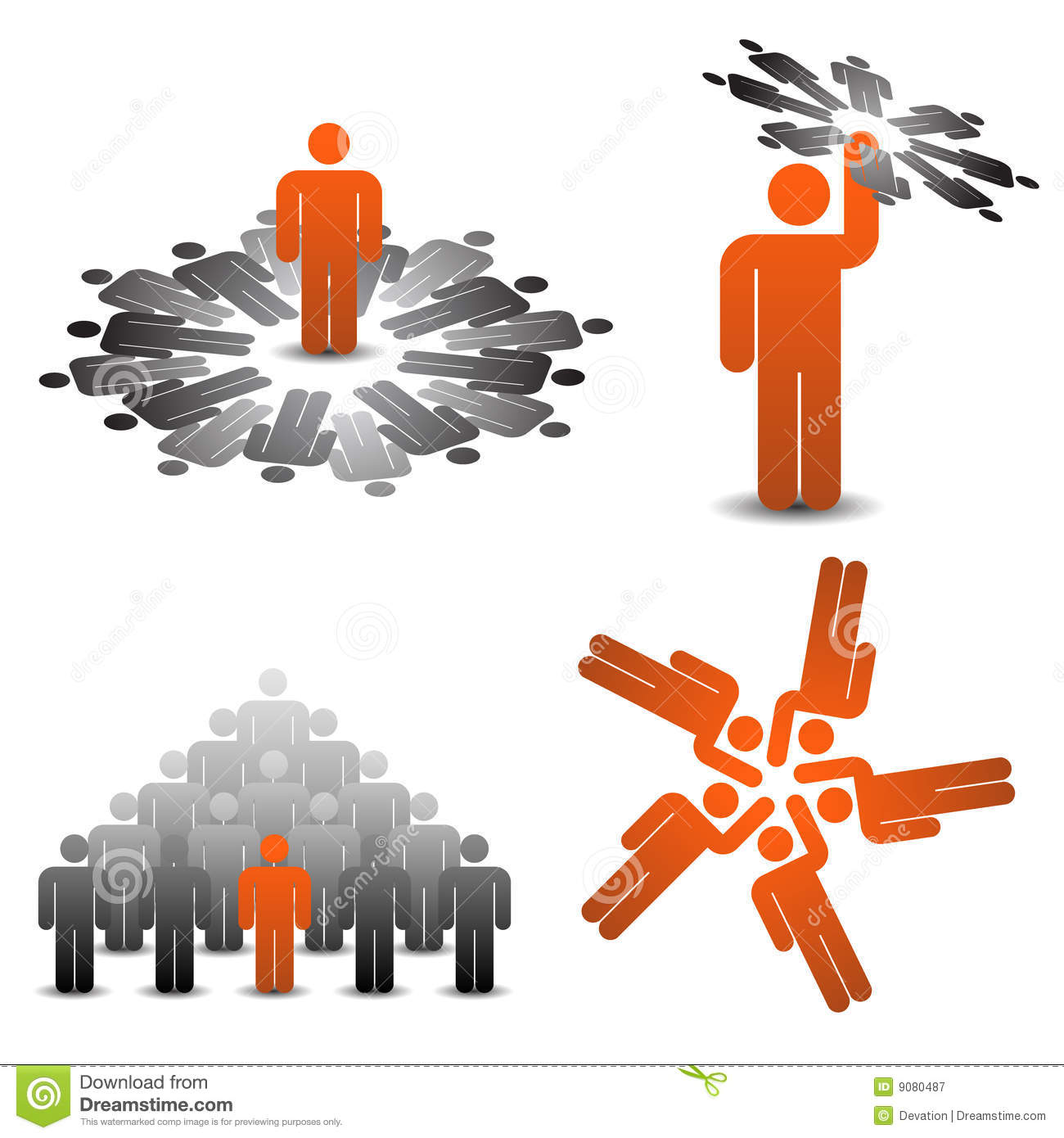 Business Symbols Teamplay Stock Vector Illustration Of Symbol 9080487