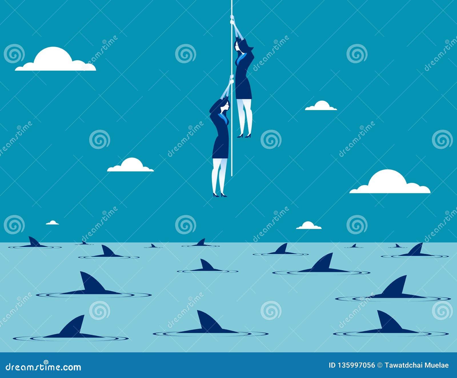 Business taking risks. Concept business vector illustration