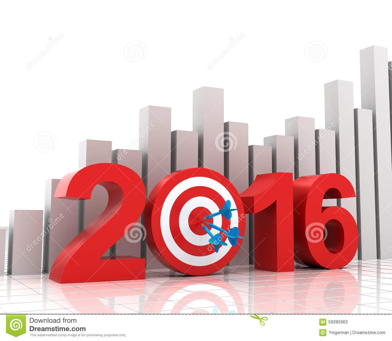 Business target for 2016 with bar chart stock illustration business target for 2016 with bar chart geenschuldenfo Images