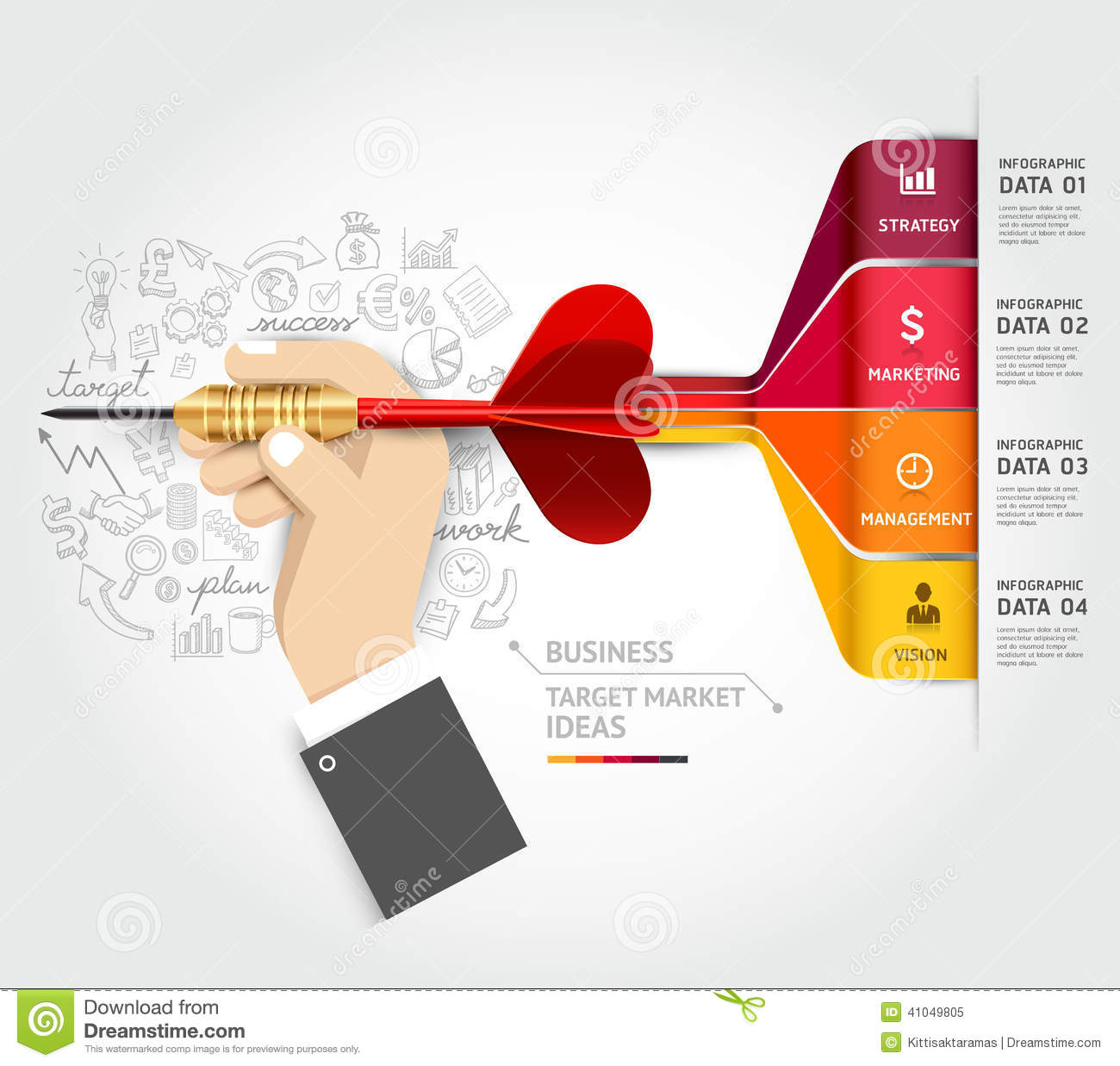 Business Target Marketing Concept Businessman Han Stock
