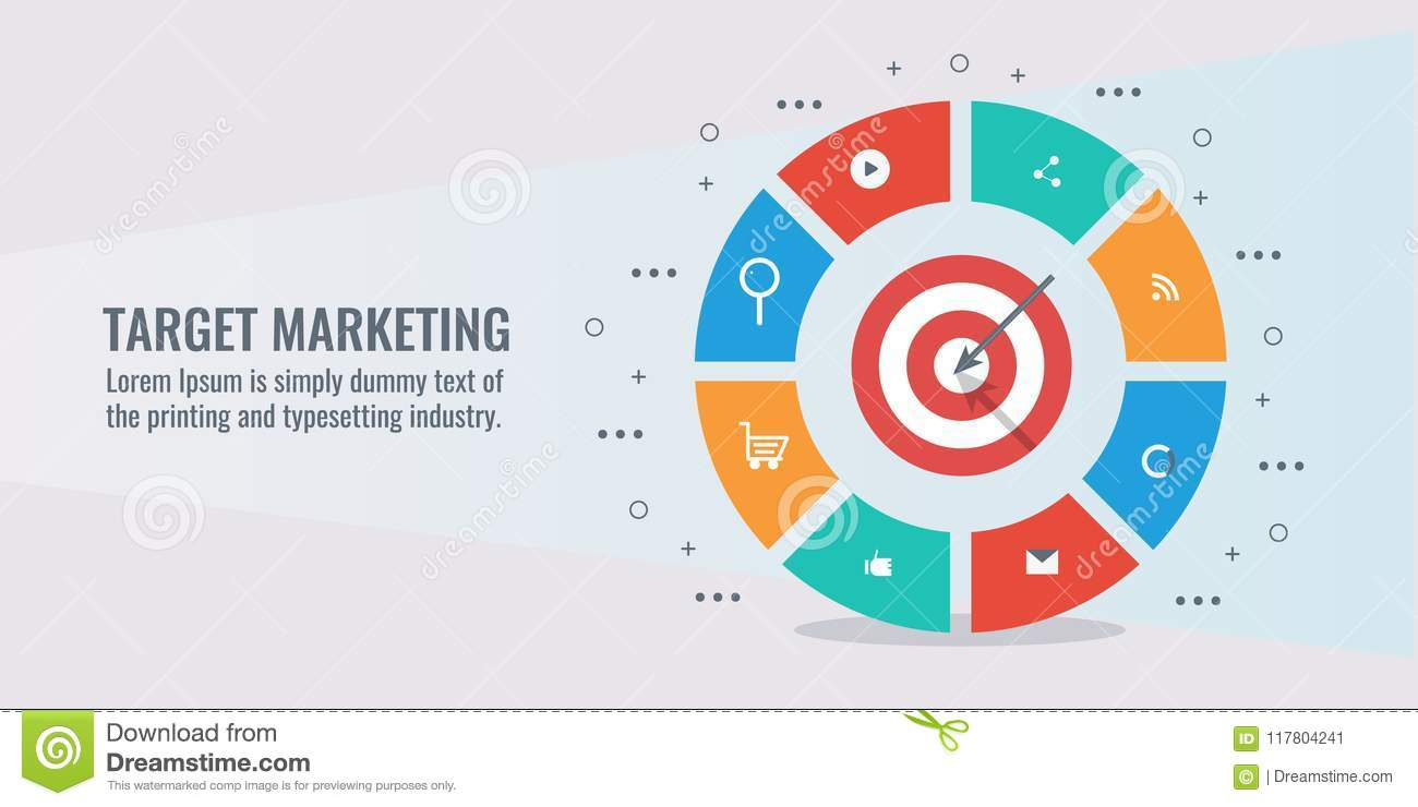 Business Target Marketing Goal Achievement Success Infographic With Icons And Elements