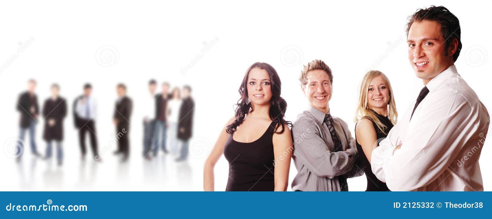 A business team