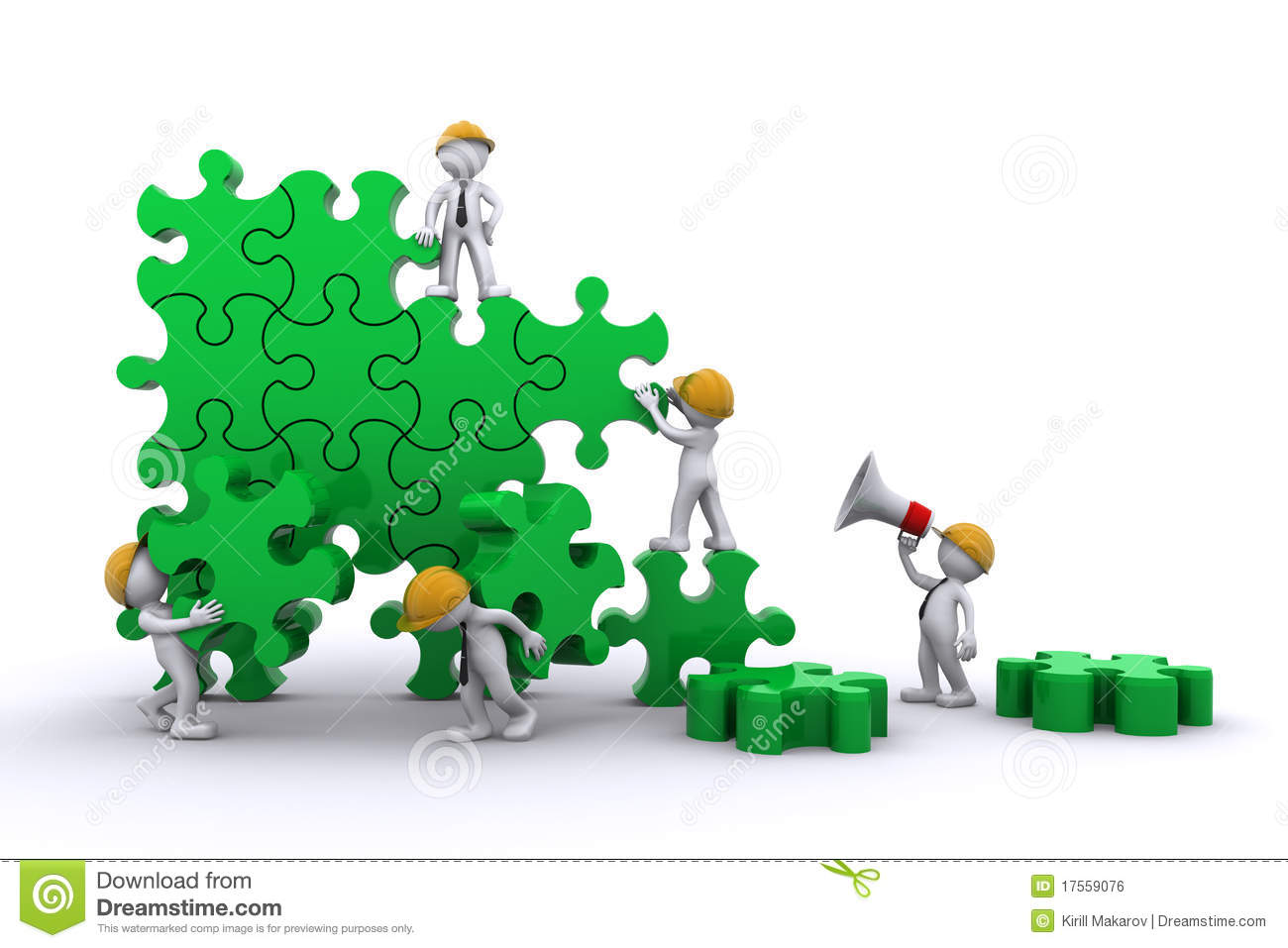 Business Team Building A Puzzle Royalty Free Stock Image - Image ...