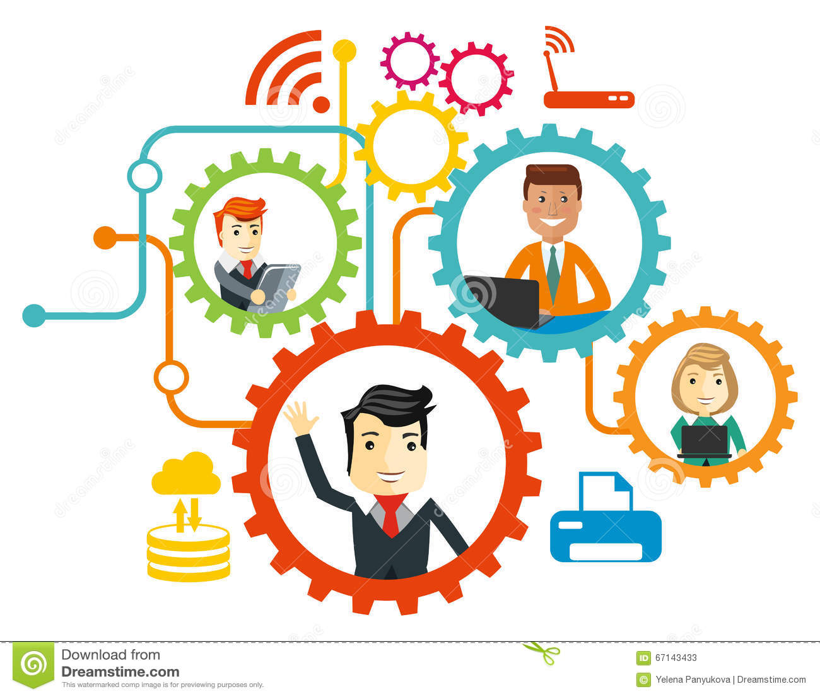 Business team cartoon characters cartoon vector cartoondealer com - Business Team Cartoon Characters Vector Illustration Cartoondealer Com 68097950