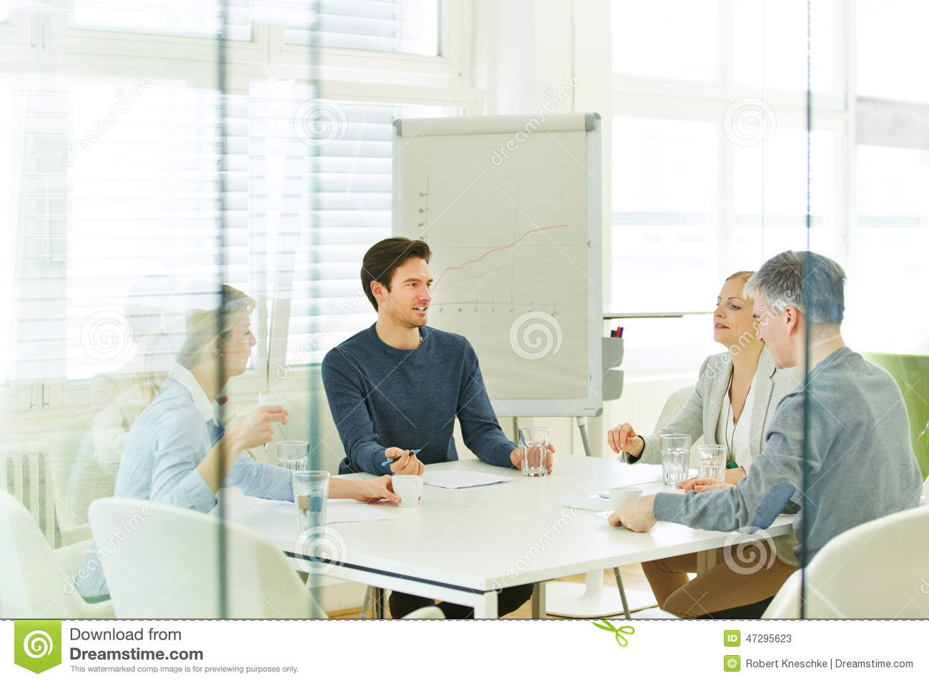 Business team in a consulting meeting