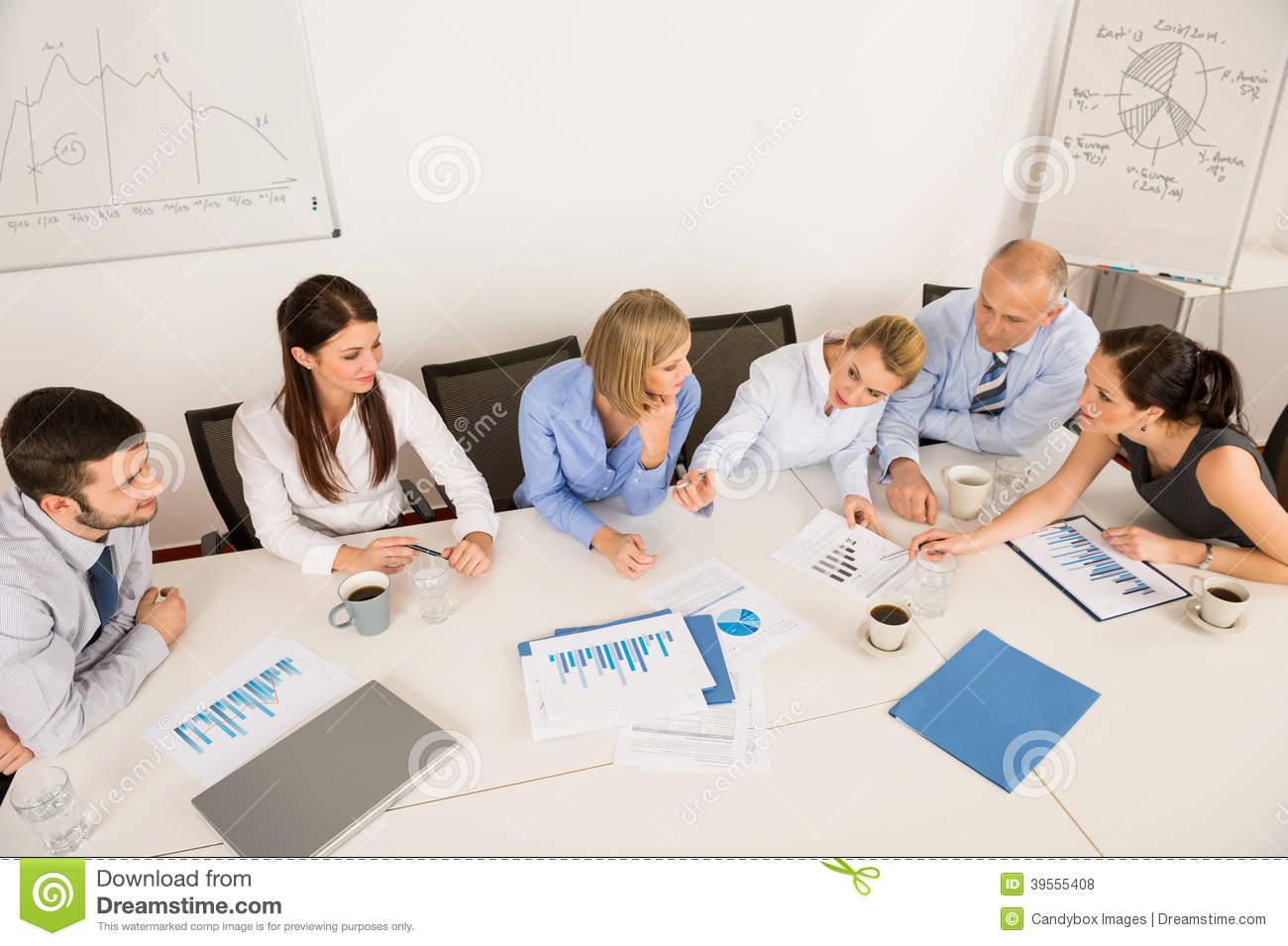 Business Team Discussing In Meeting