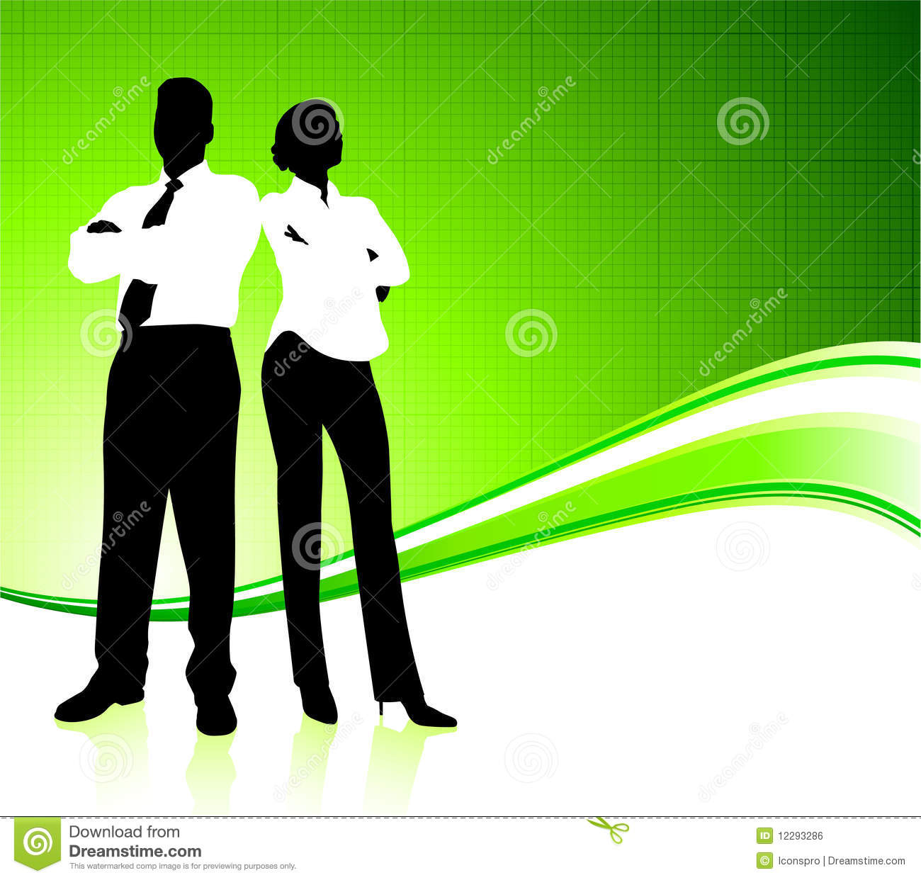business team on green environment background royalty stock business team on green environment background