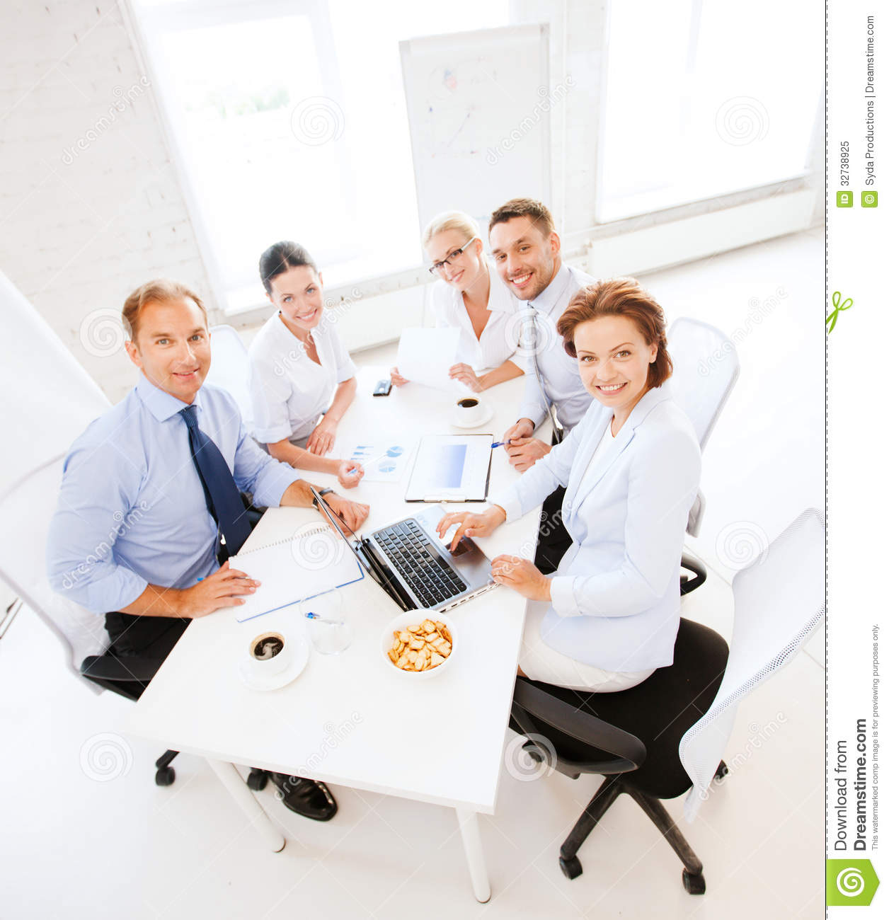 Business Team Having Meeting In Office Stock Image - Image ...