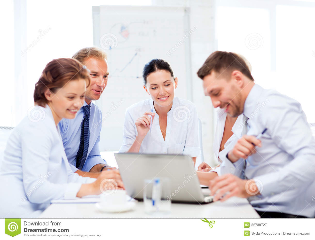 Business Team Having Meeting In Office Royalty Free Stock Photography ...