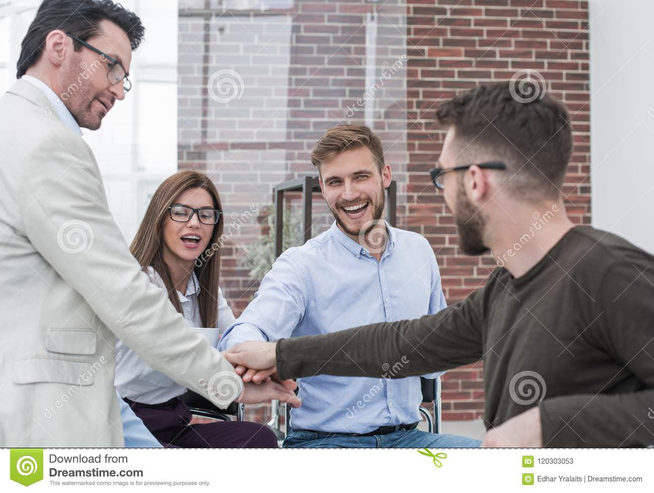 Business team makes an important decision