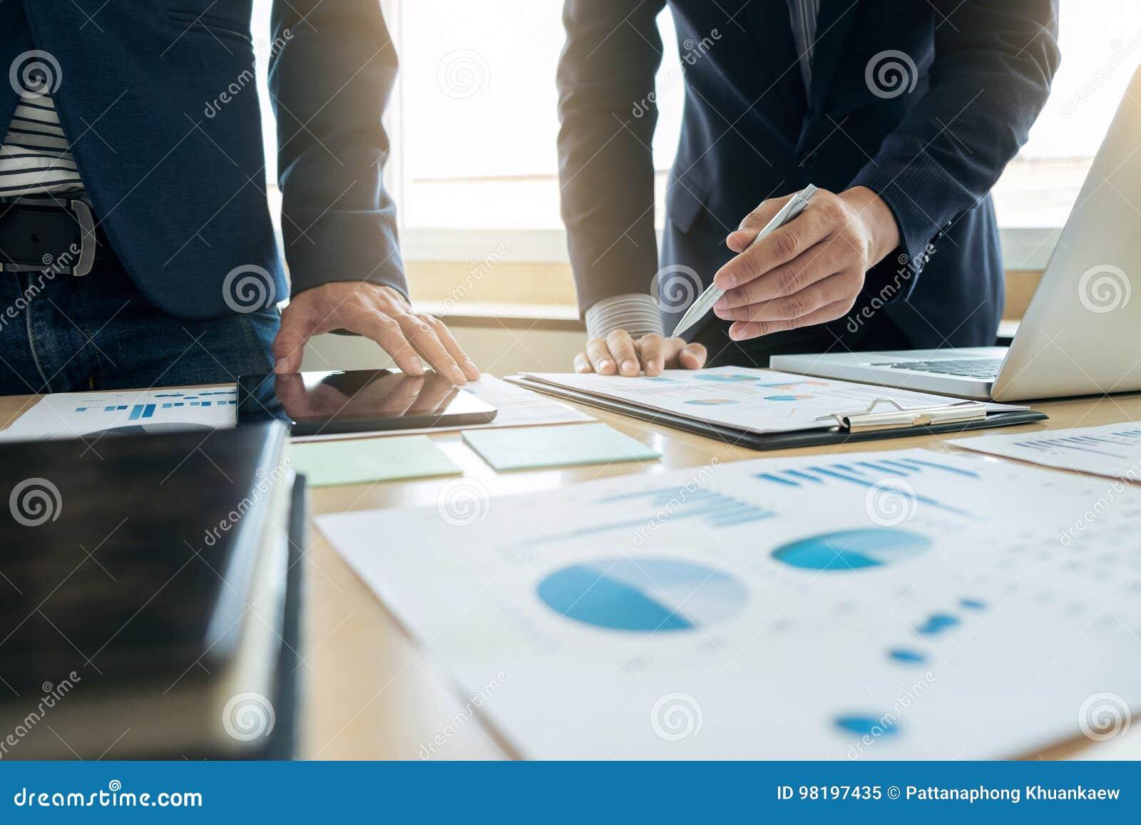 Business team meeting present. secretary presentation new idea a