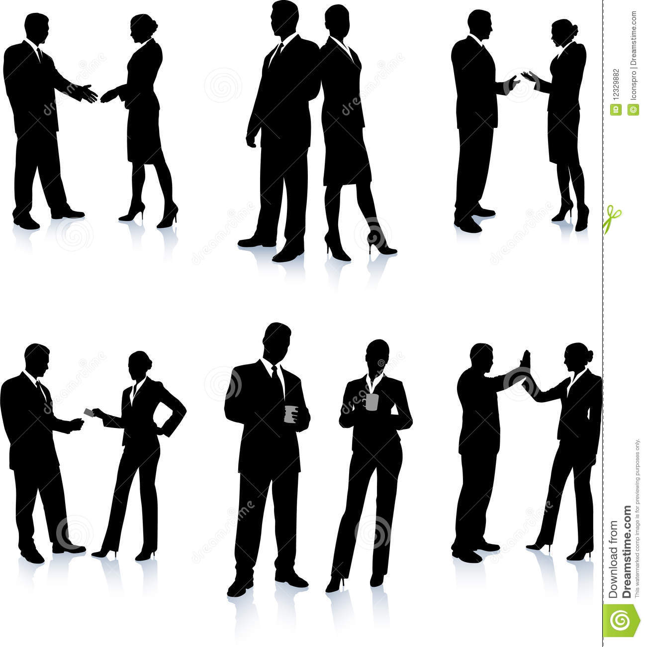 Business Team Silhouette Collection Stock Photography