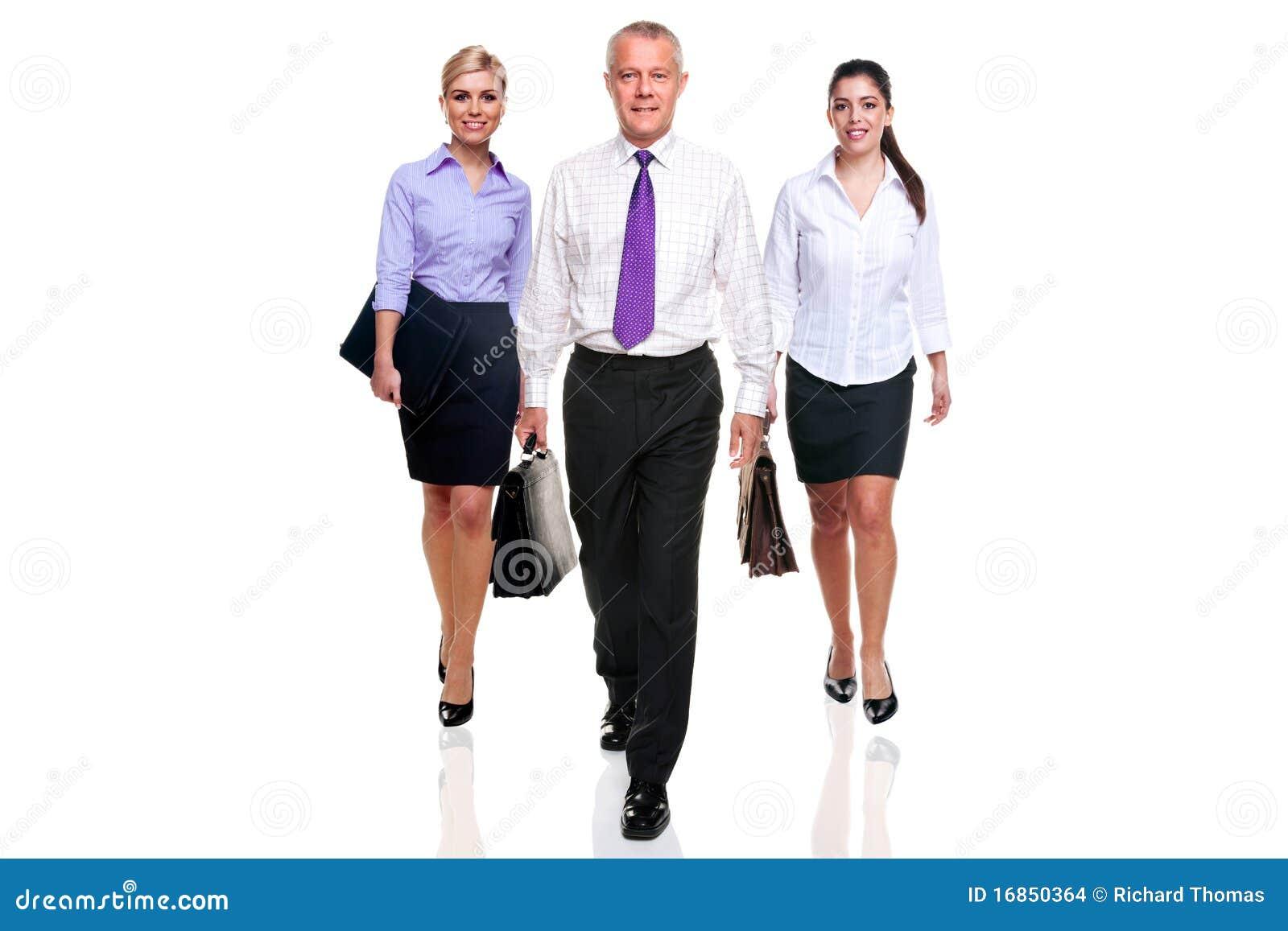 Business Team Three People Walking Stock Photo - Image ...