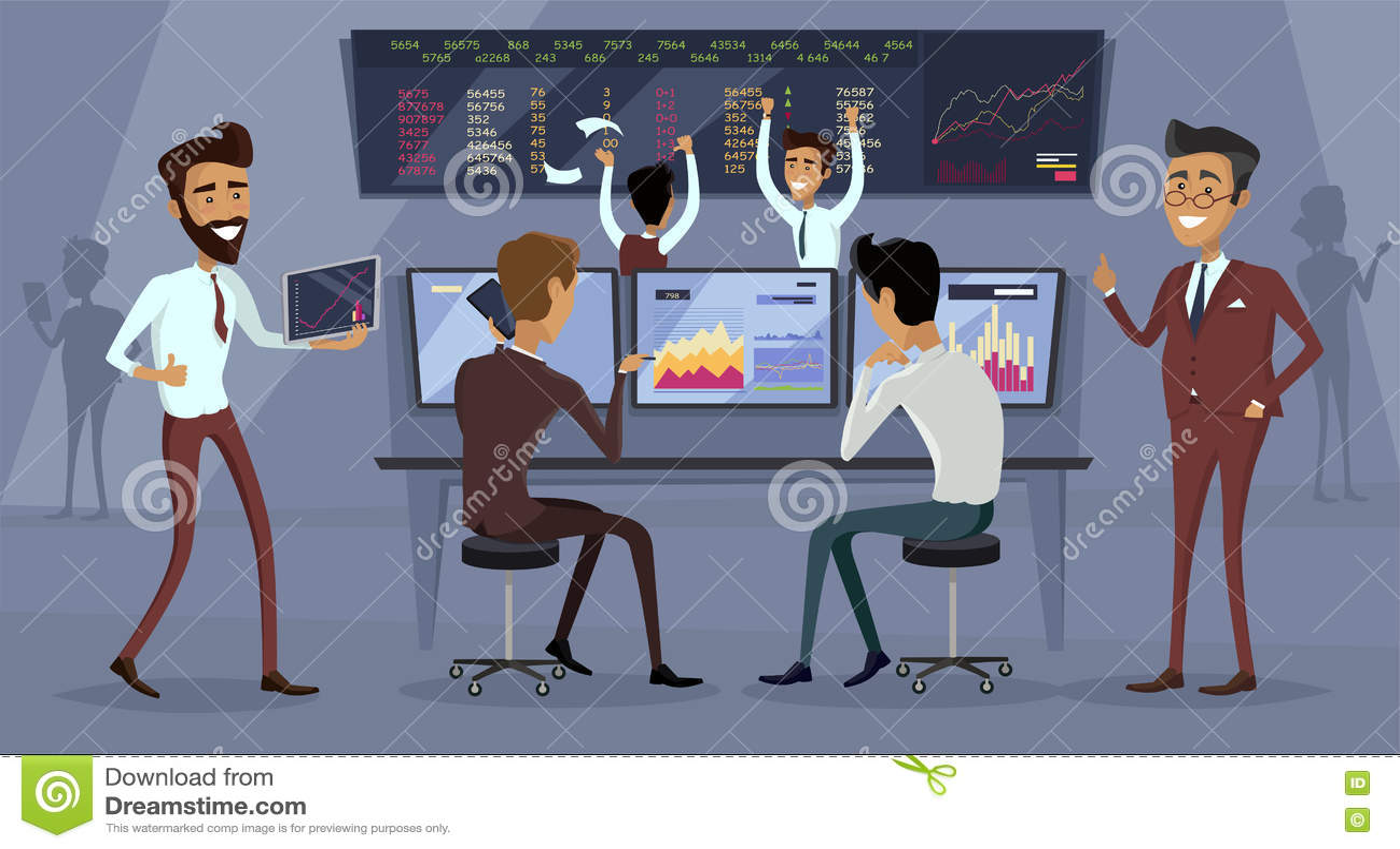 Business Team Work Success Concept Vector