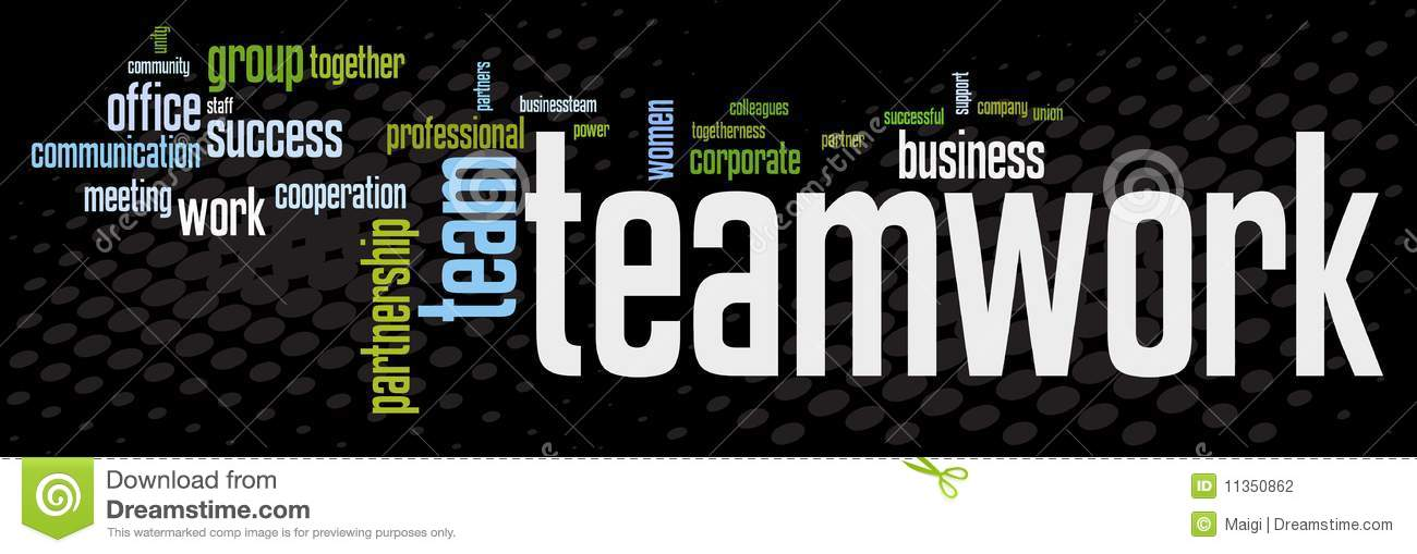 Business teamwork banner stock vector. Illustration of ...